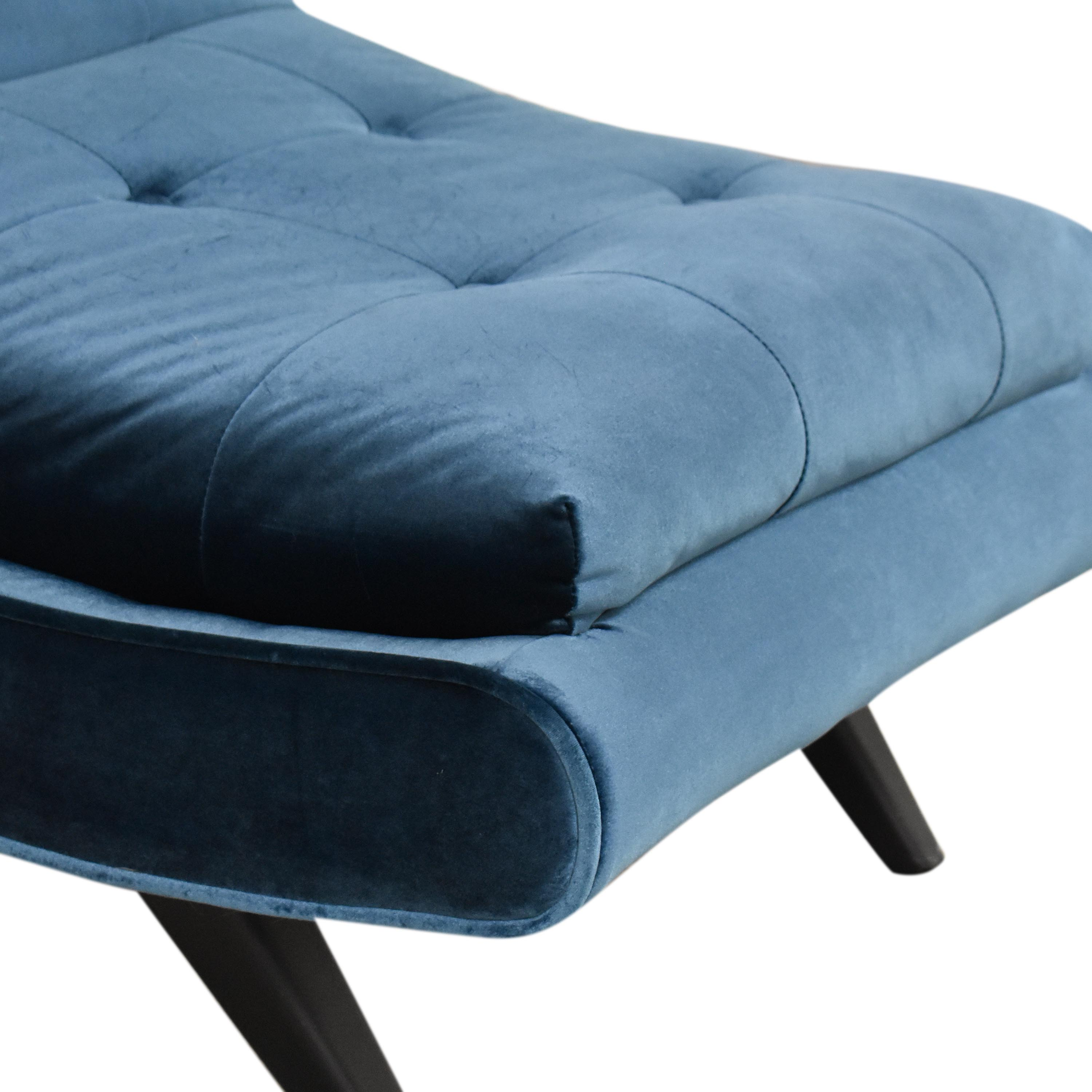 shop Armen Living 5th Avenue Armless Swayback Lounge Chair Armen Living Chairs