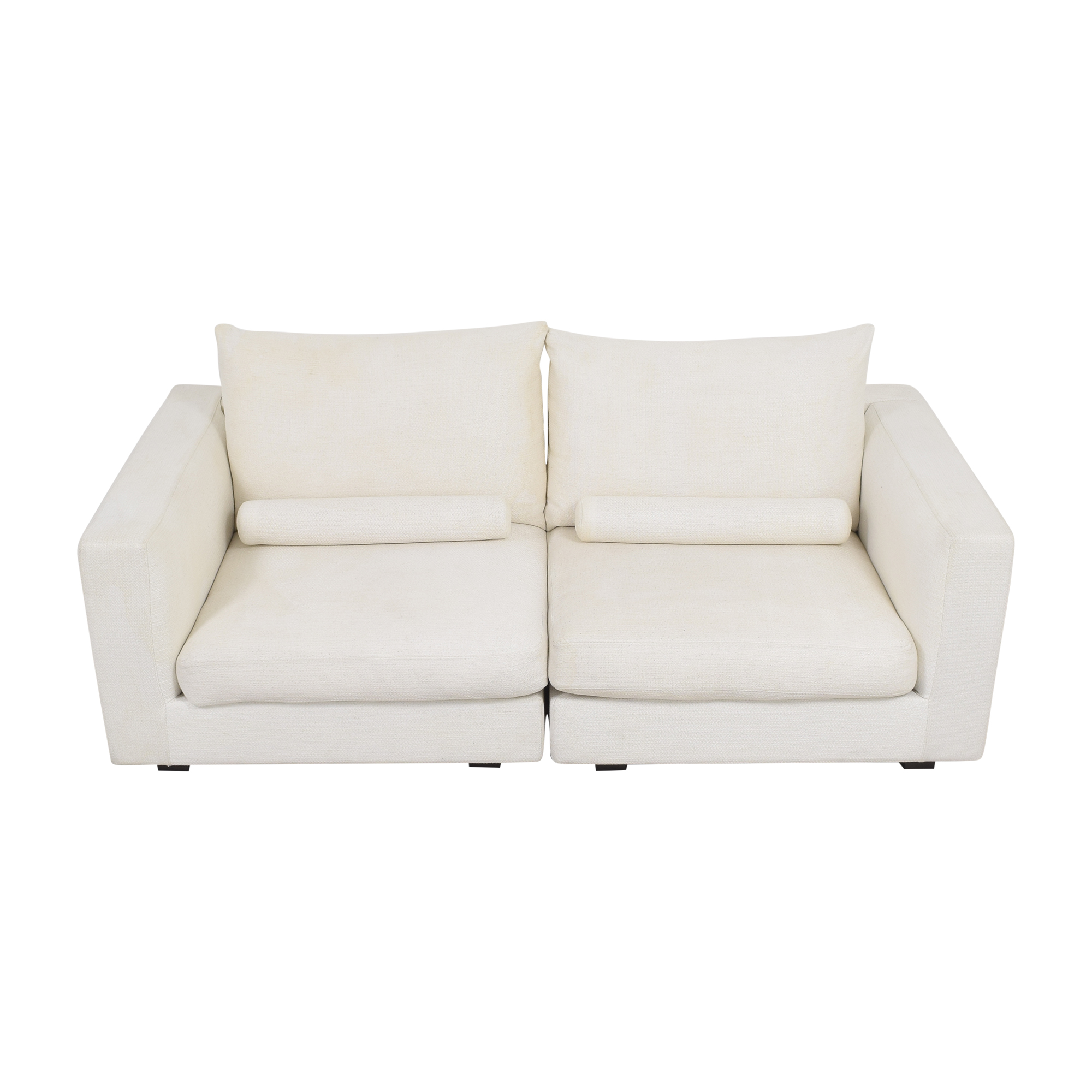 West Elm West Elm Hampton Two Piece Modular Sofa white