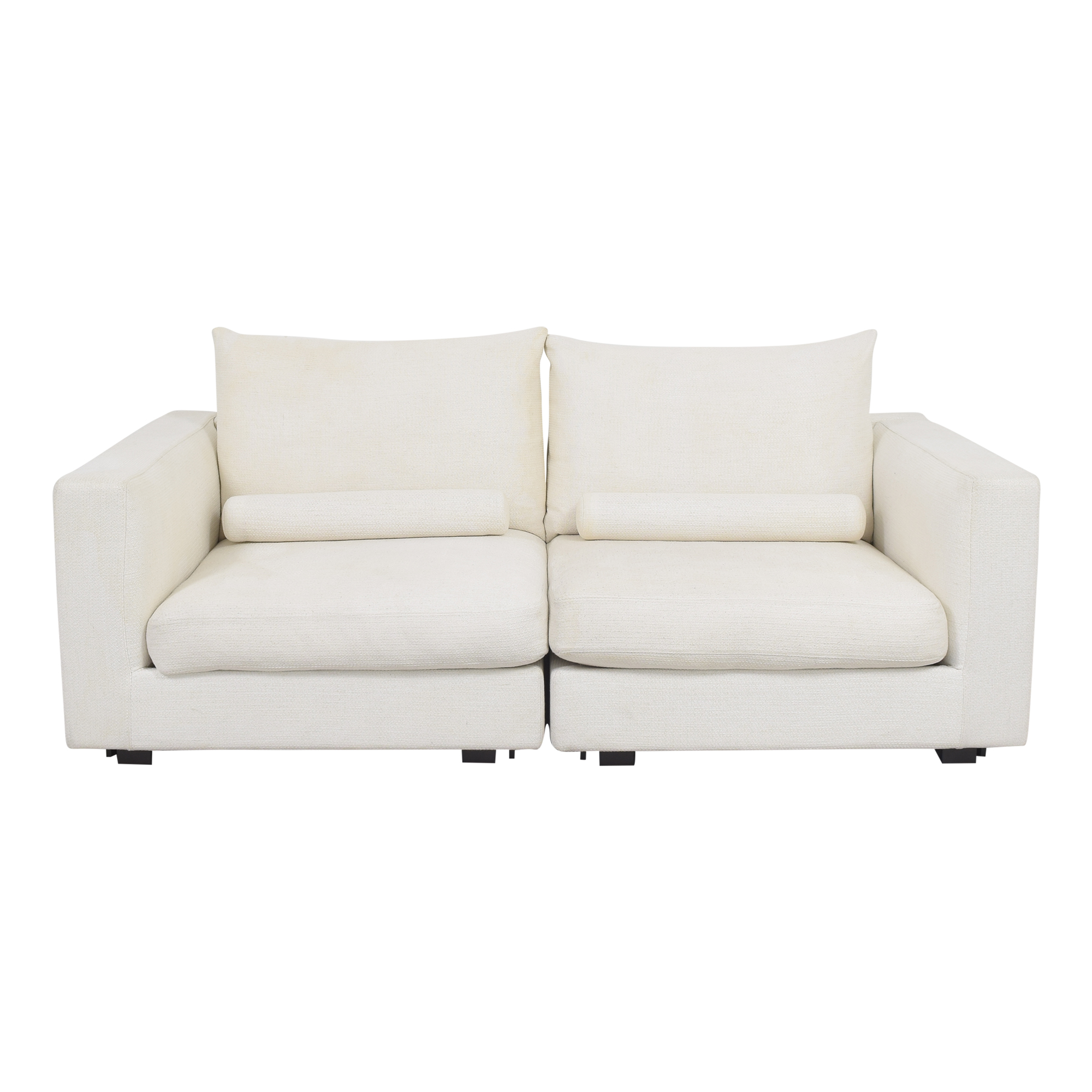 West Elm West Elm Hampton Two Piece Modular Sofa dimensions