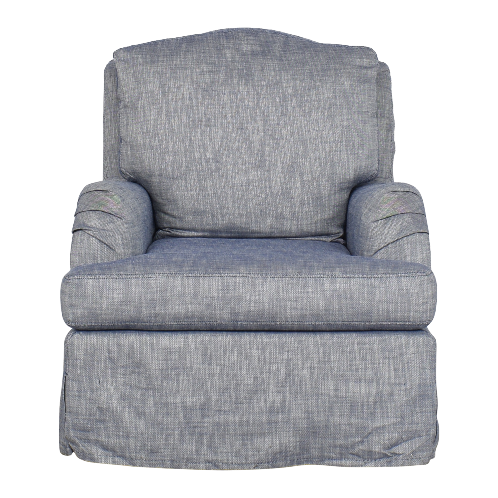 Slipcovered Swivel Armchair on sale