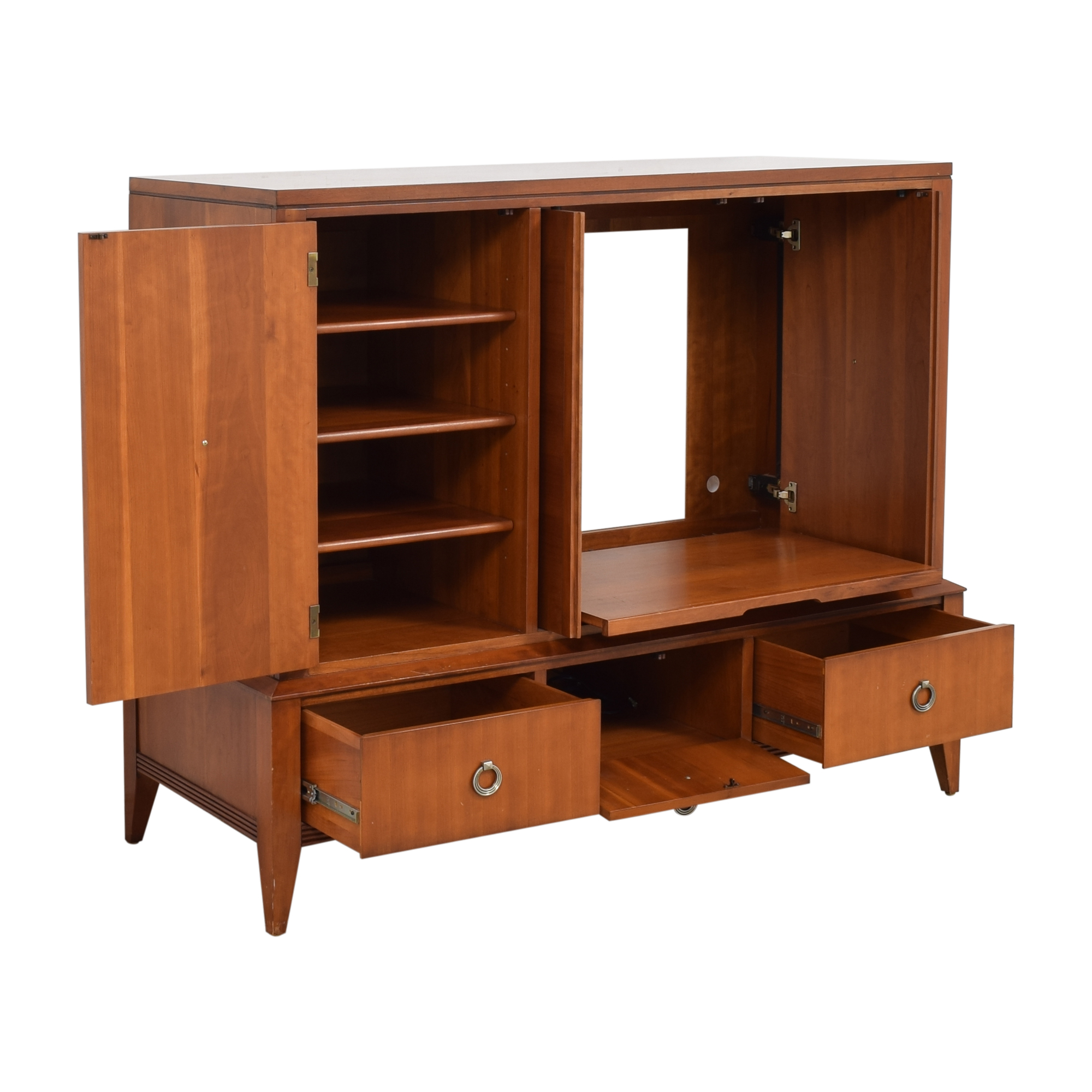 shop Ethan Allen Avenue Collection Media Cabinet Ethan Allen Storage