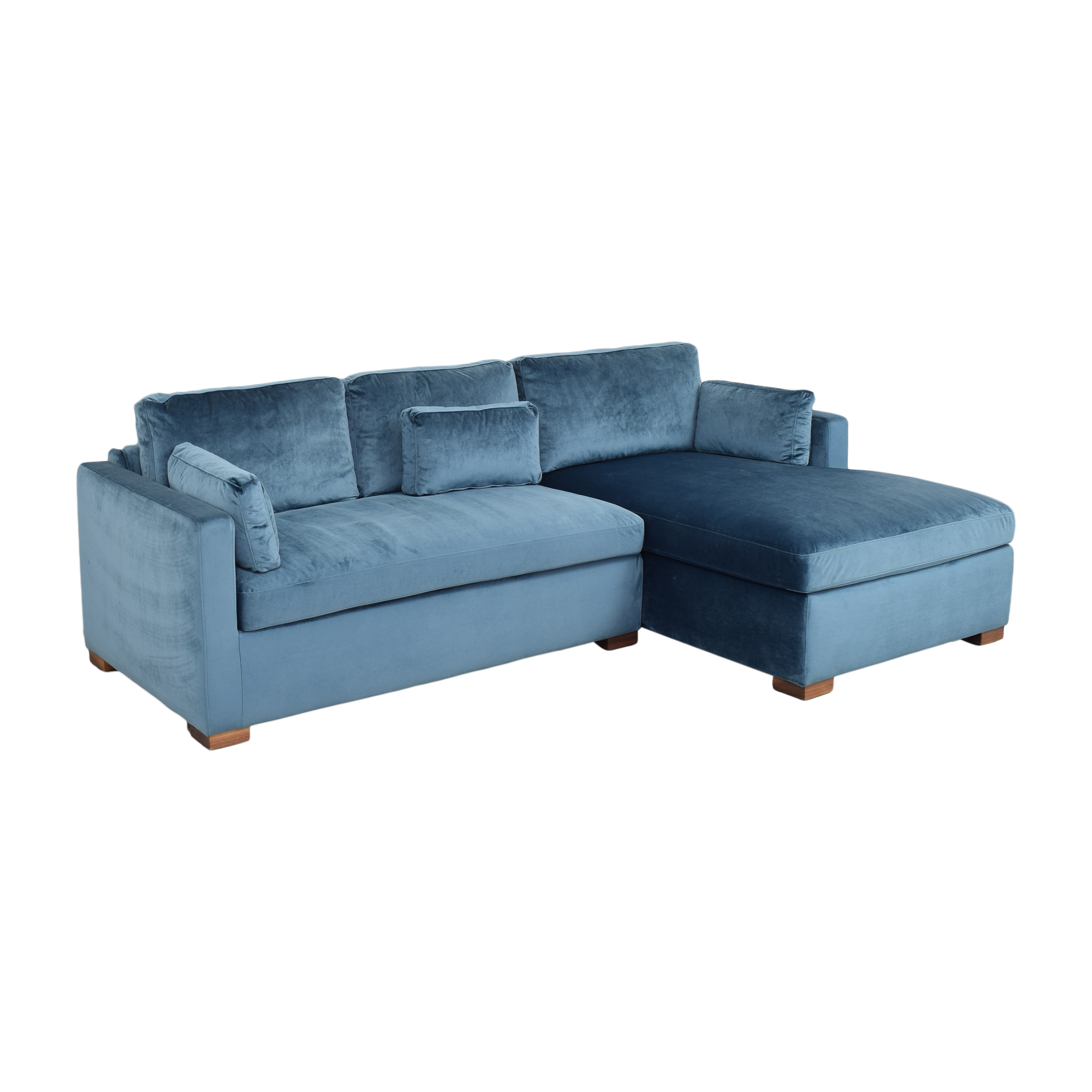 Interior Define Interior Define Charly Sectional Sofa with Chaise blue