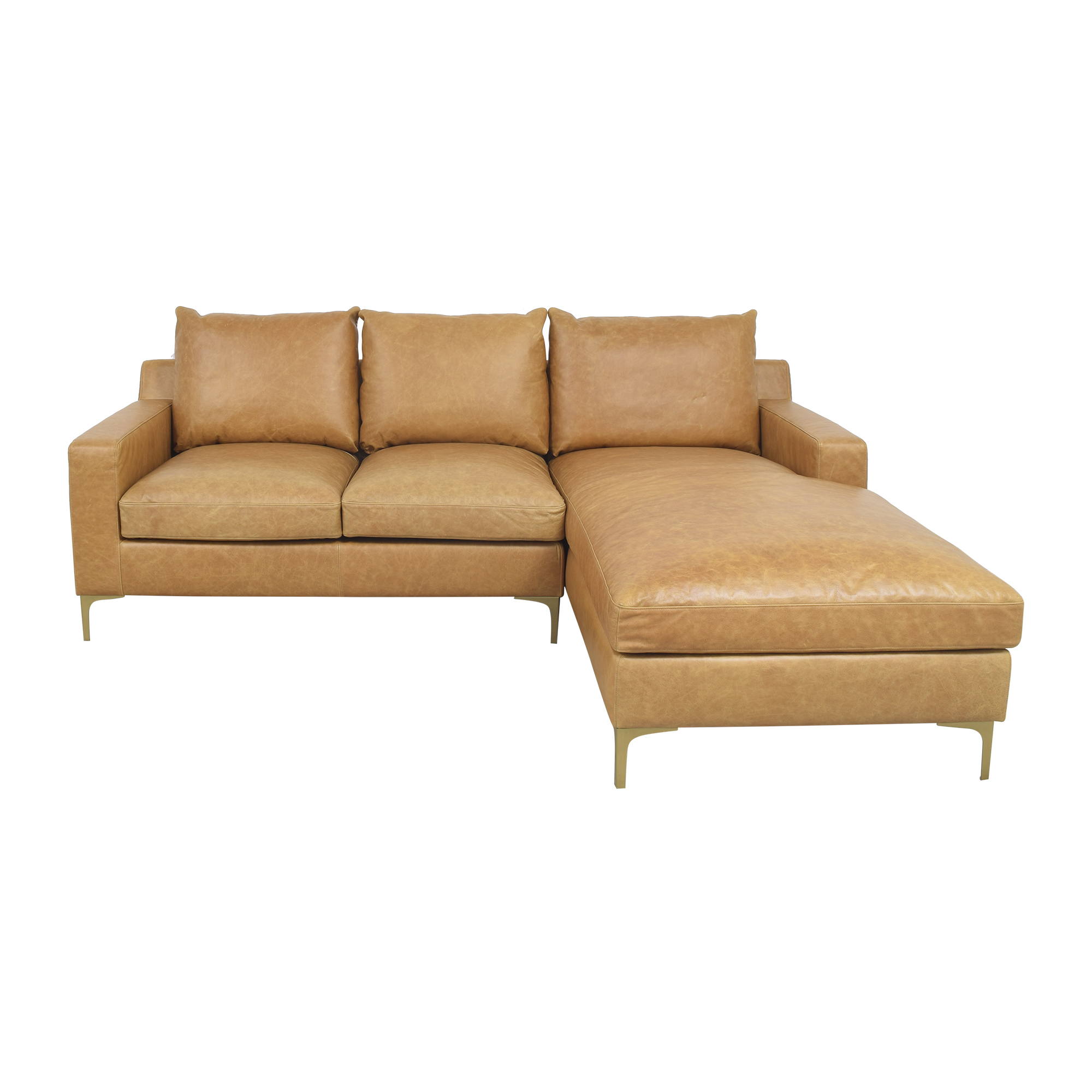 Interior Define Interior Define Sloan Sectional Sofa with Chaise brown