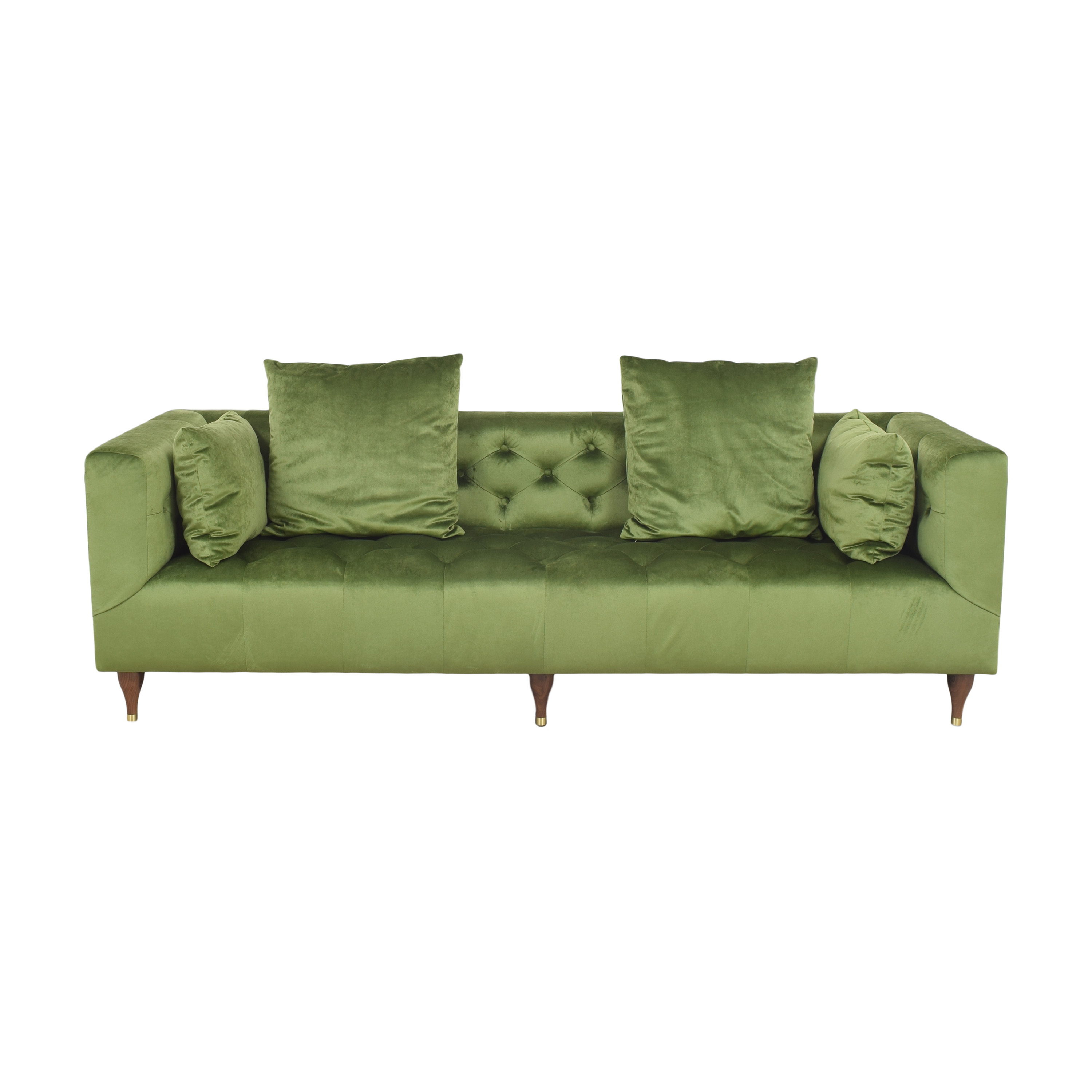 Interior Define Interior Define Ms. Chesterfield Tufted Sofa dimensions