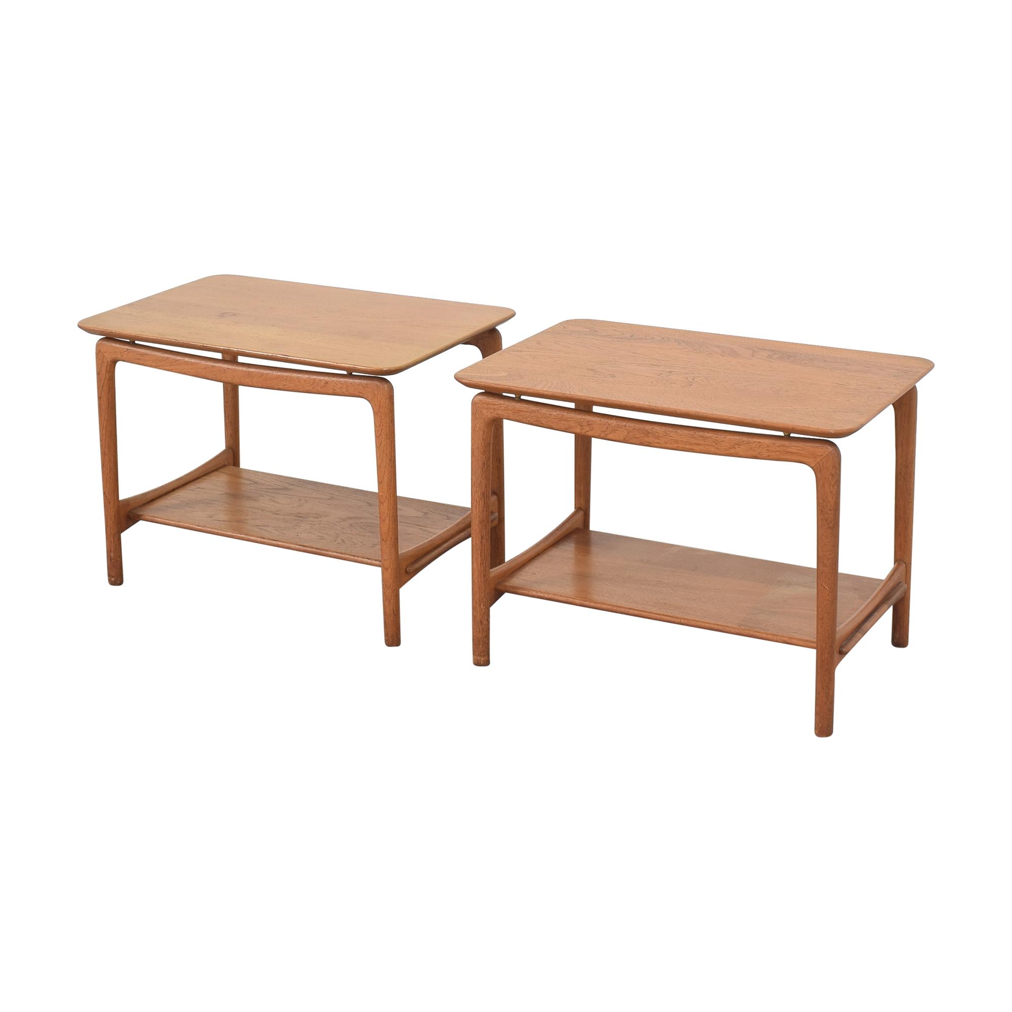 shop John Stuart Inc. Mid Century Danish Side Tables John Stuart Inc. Tables