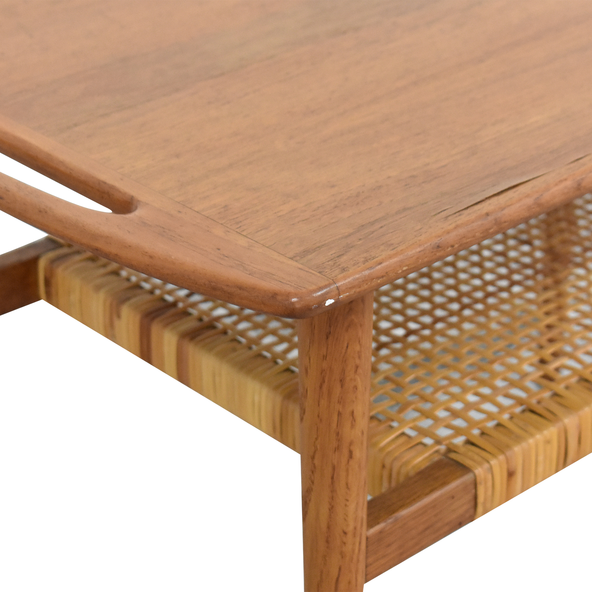 buy Andreas Tuck Cane Shelf Side Table Andreas Tuck Tables