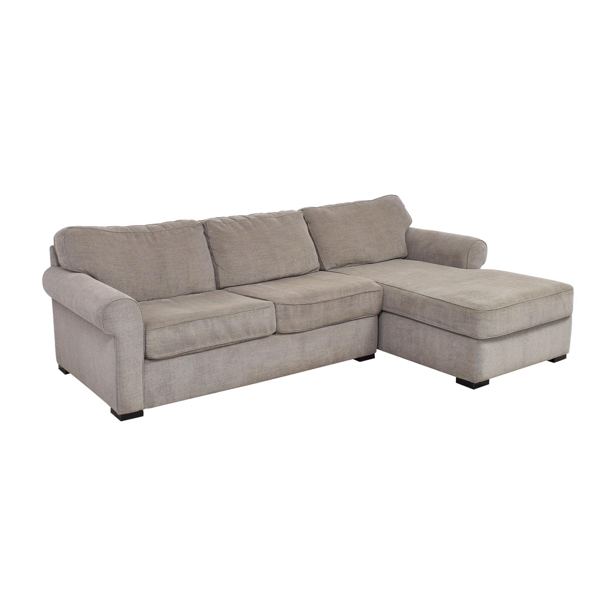 Raymour & Flanigan Raymour & Flanigan Kipling Two Piece Sectional Sofa second hand