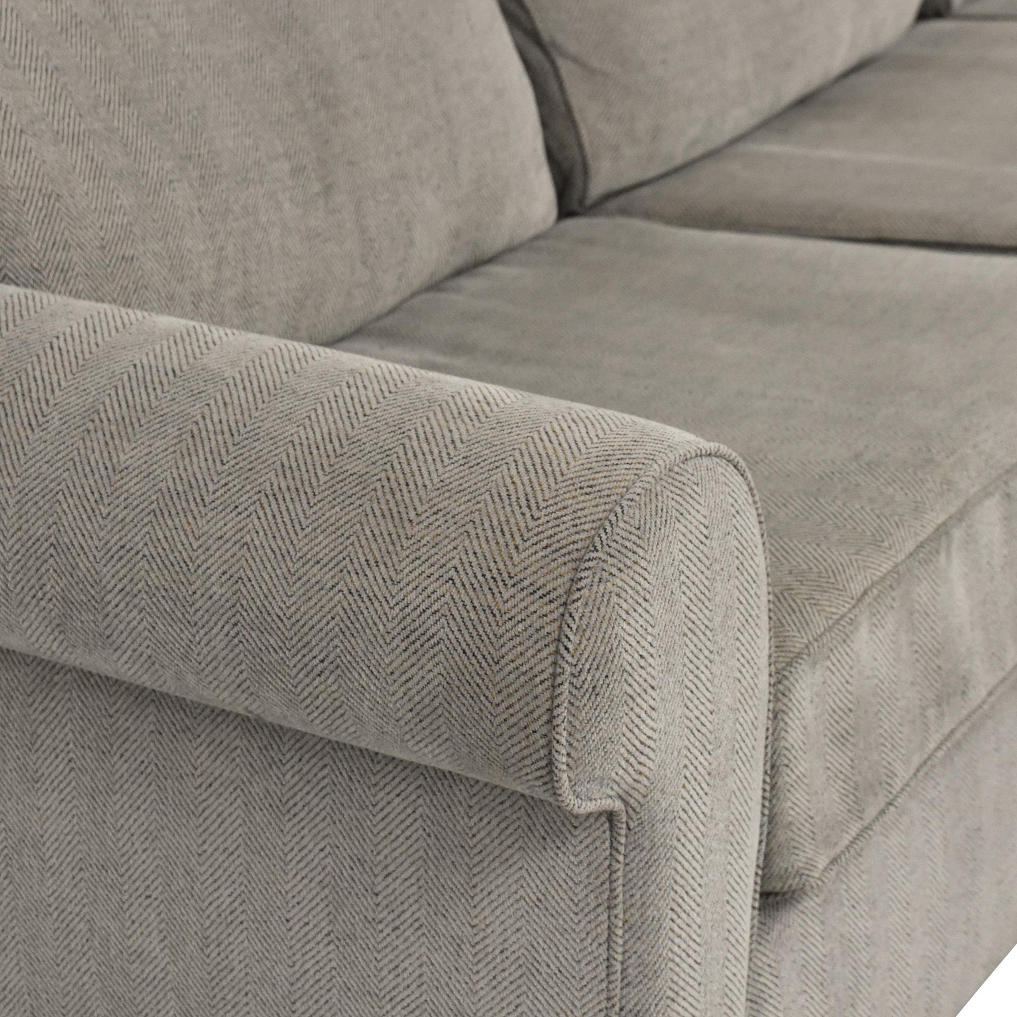 Raymour & Flanigan Raymour & Flanigan Kipling Two Piece Sectional Sofa Sofas