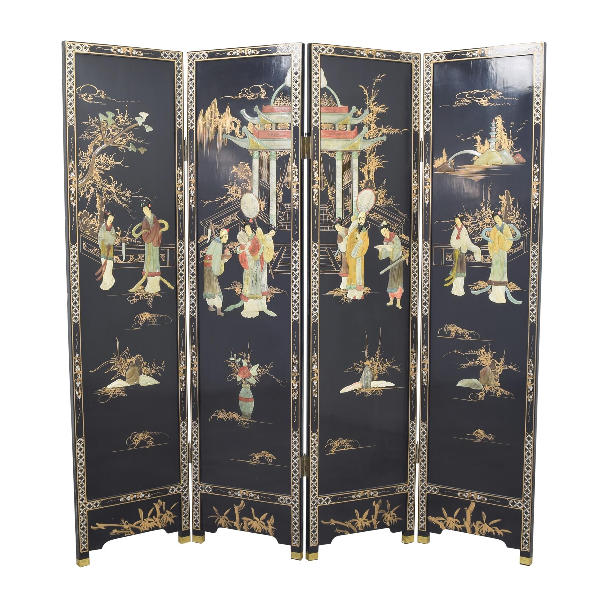 shop Decorative Four Panel Divider