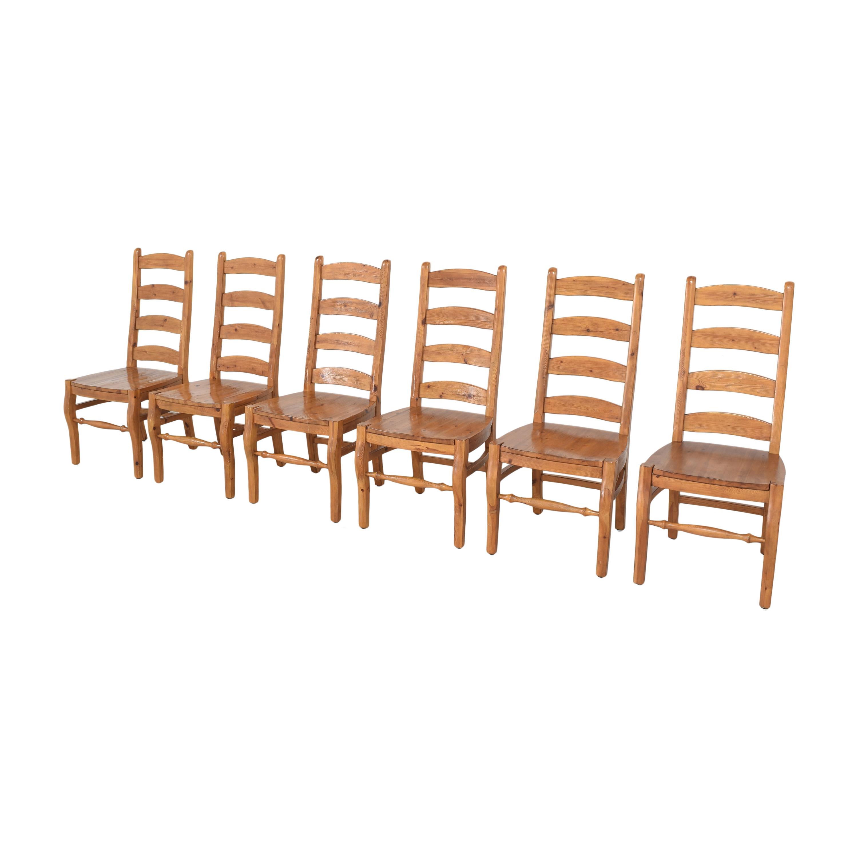 shop Pottery Barn Wynn Ladderback Dining Chairs Pottery Barn Dining Chairs