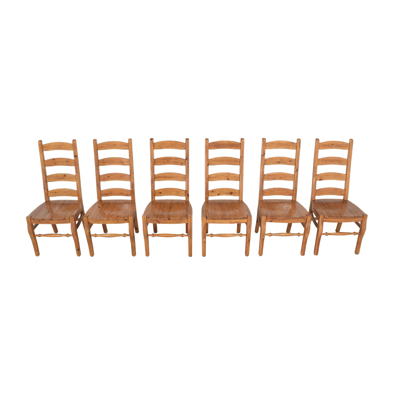 Pottery Barn Pottery Barn Wynn Ladderback Dining Chairs dimensions