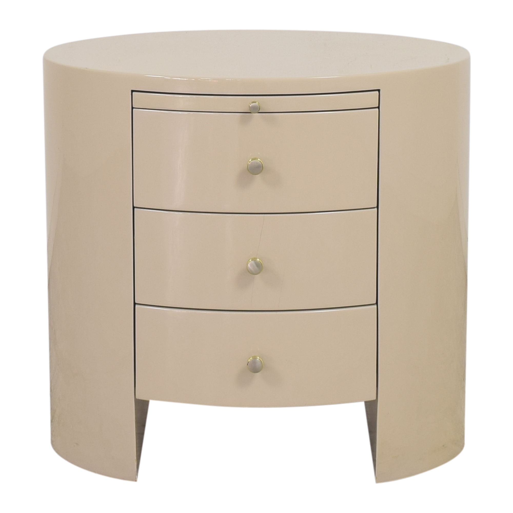 Three Drawer Nightstand with Desk Extension  Tables