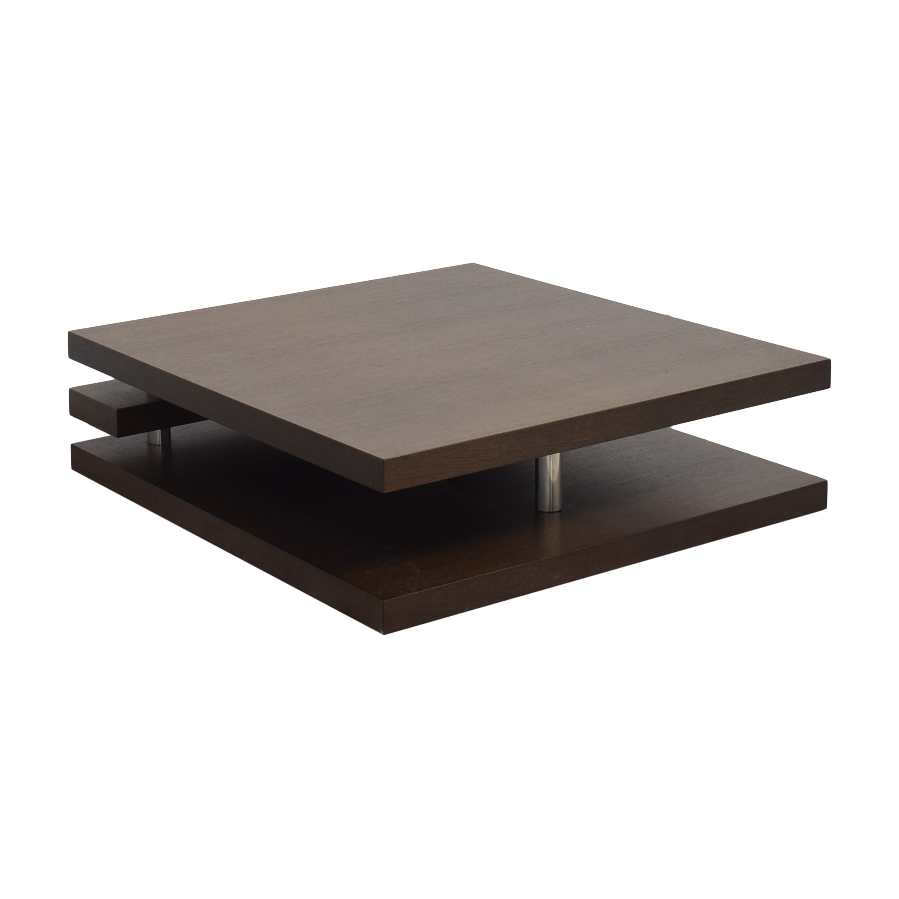 Contemporary Square Coffee Table brown and gray