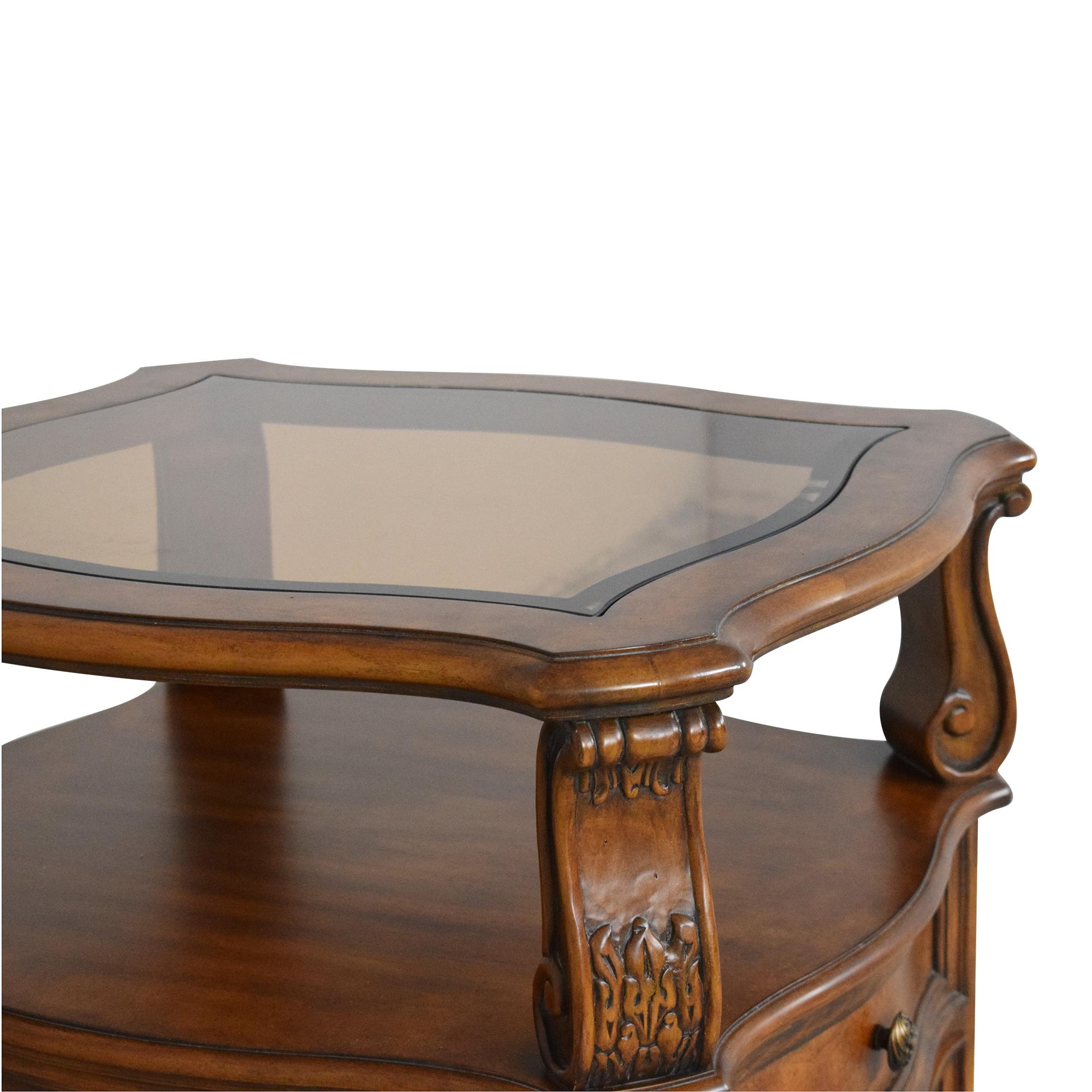 Drexel Heritage Drexel Heritage Carved Nightstand Tables