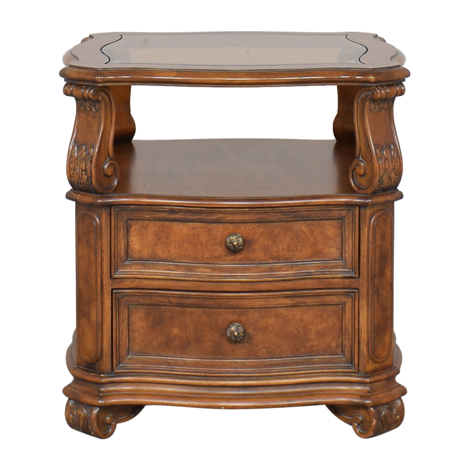 Drexel Heritage Drexel Heritage Carved Nightstand second hand
