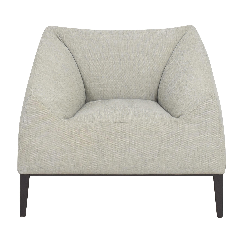 Poliform Poliform Contemporary Club Chair light gray