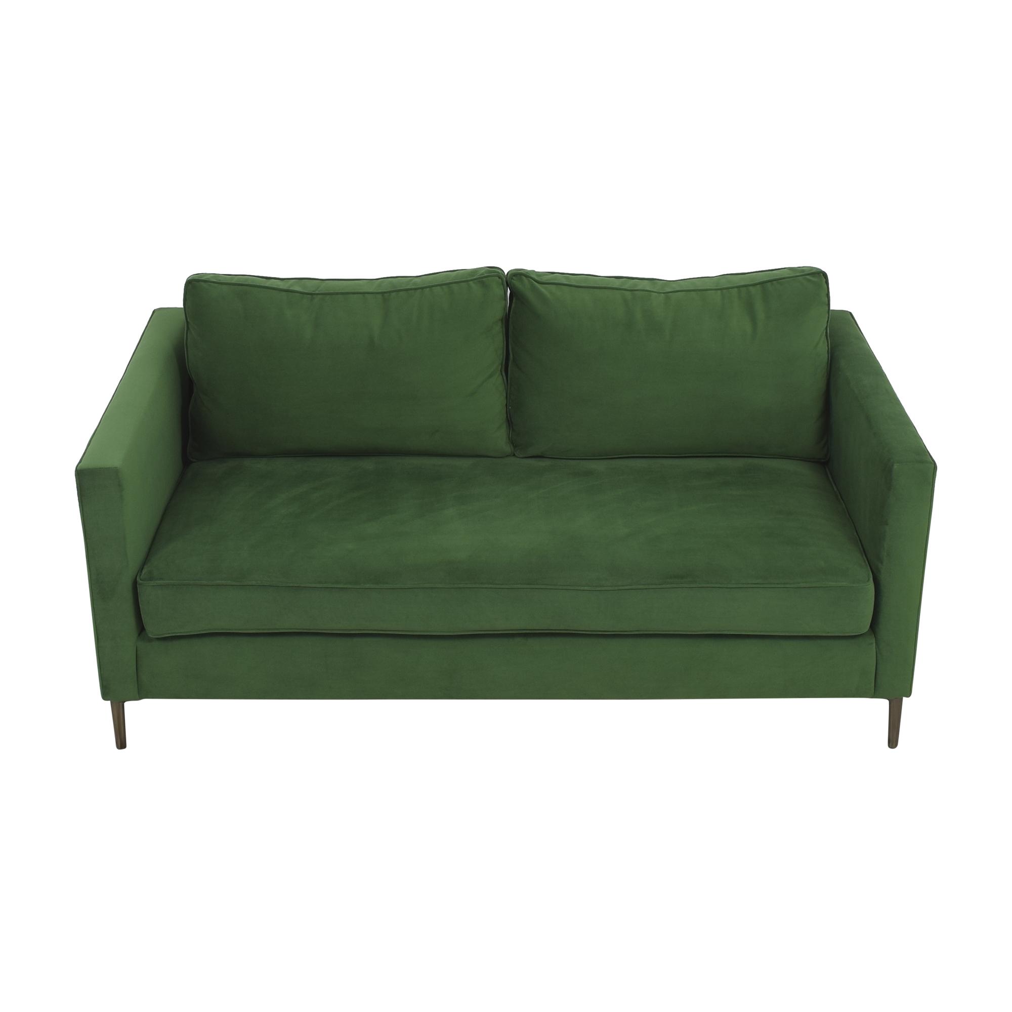 West Elm West Elm Harris Loft Sofa green