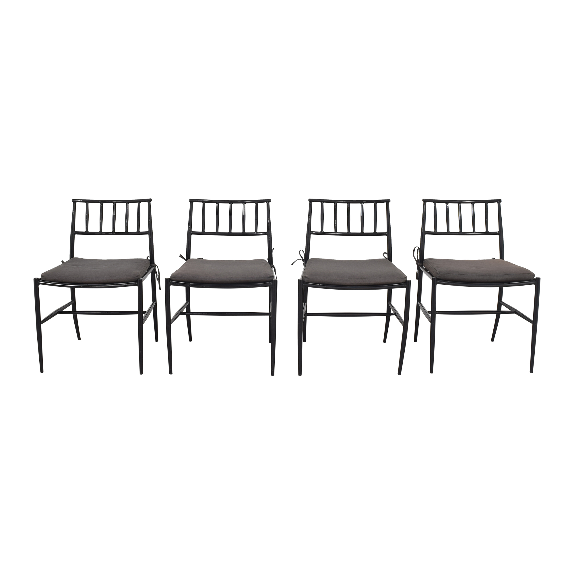 West Elm West Elm Dining Chairs black & grey