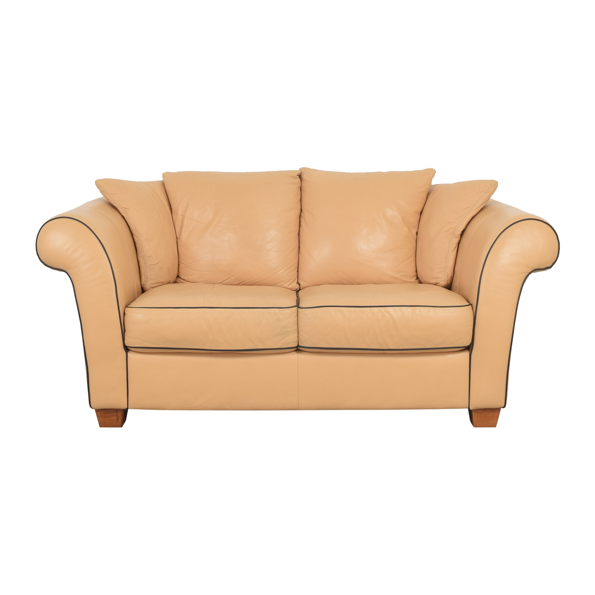 shop Natuzzi Contrast Piping Two Cushion Sofa Natuzzi Classic Sofas