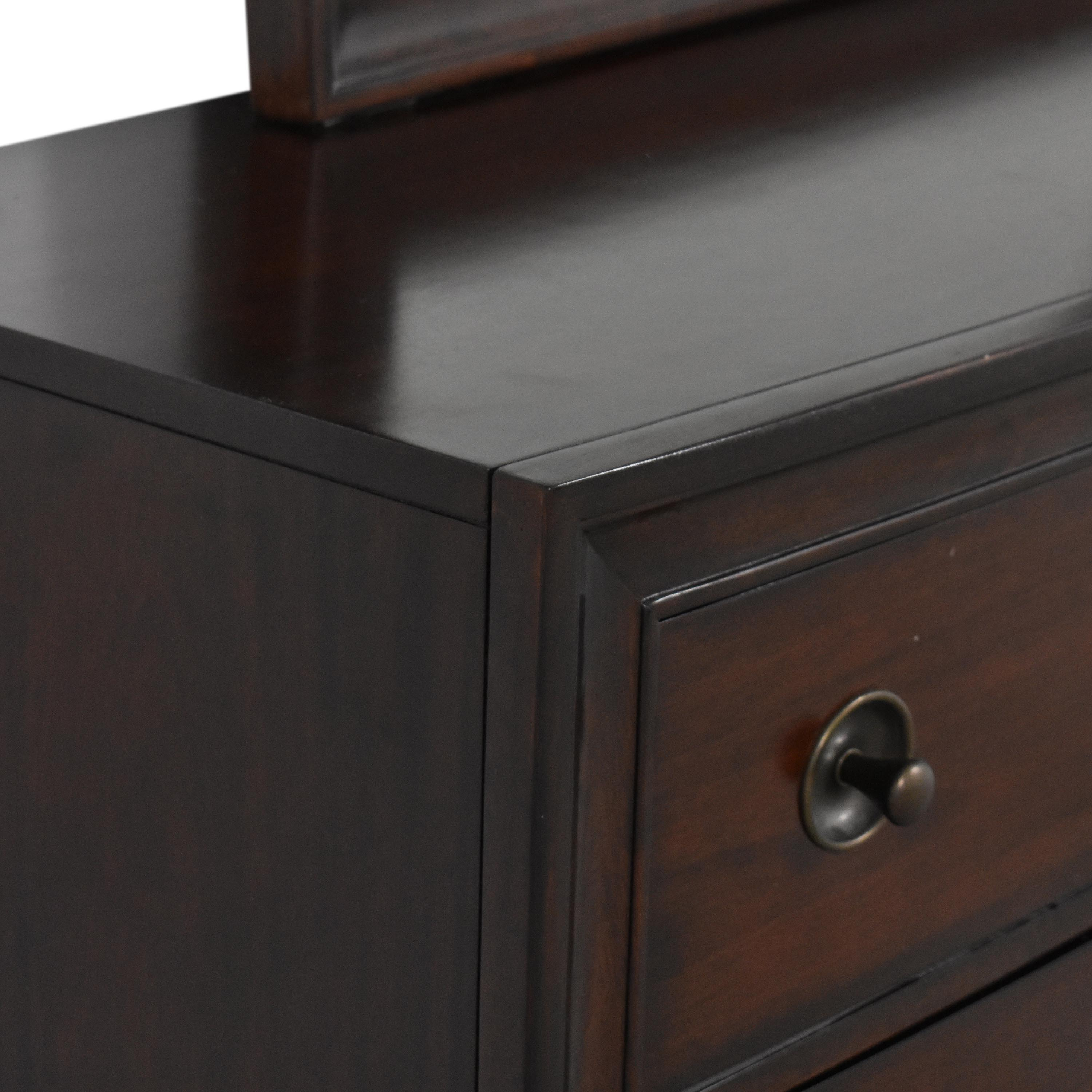 Raymour & Flanigan Raymour & Flanigan Six Drawer Double Dresser with Mirror discount