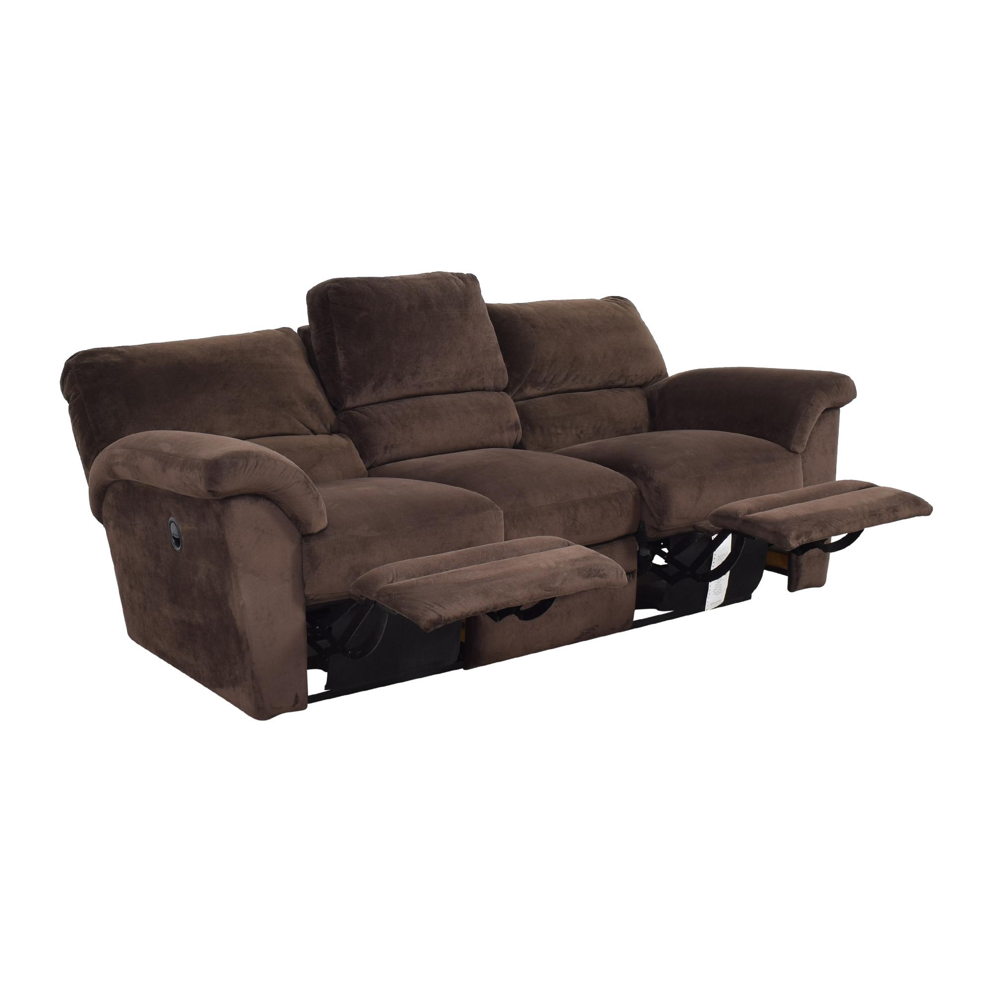shop La-Z-Boy Reclining Three Cushion Sofa La-Z-Boy Classic Sofas
