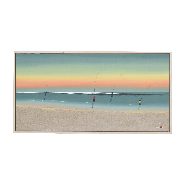 Framed Beach Painting Wall Art
