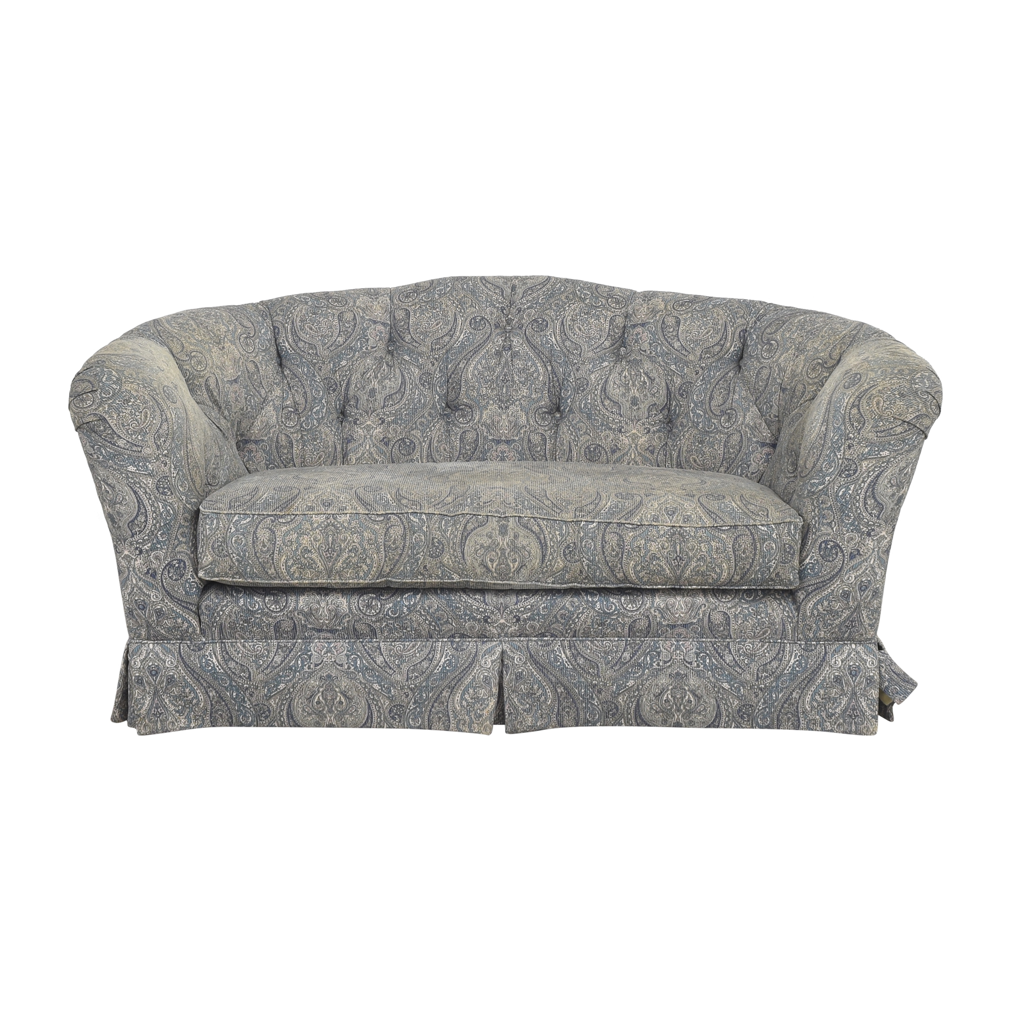 Ethan Allen Paisley Tufted Loveseat sale