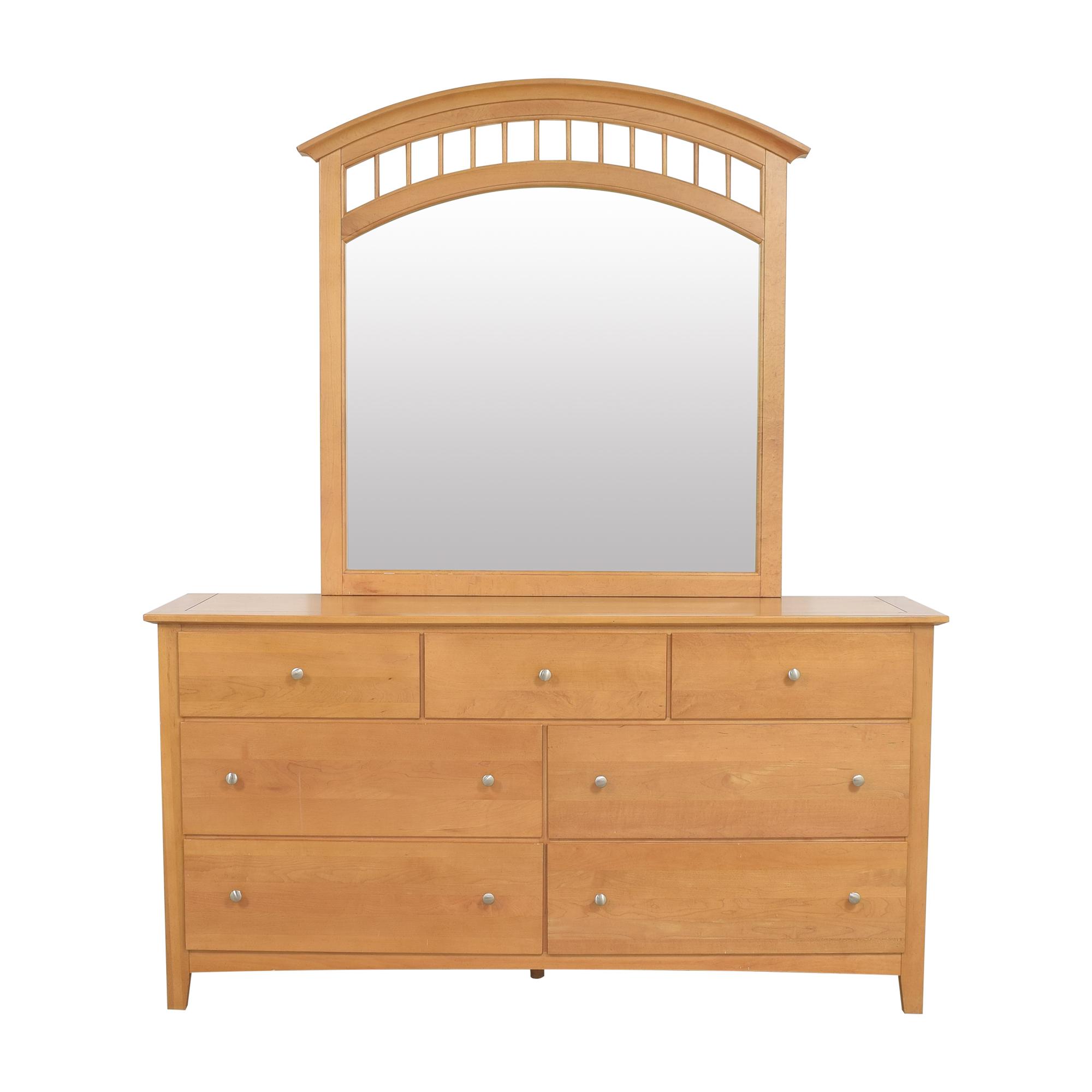 Stanley Furniture Stanley Furniture Seven Drawer Dresser with Mirror on sale