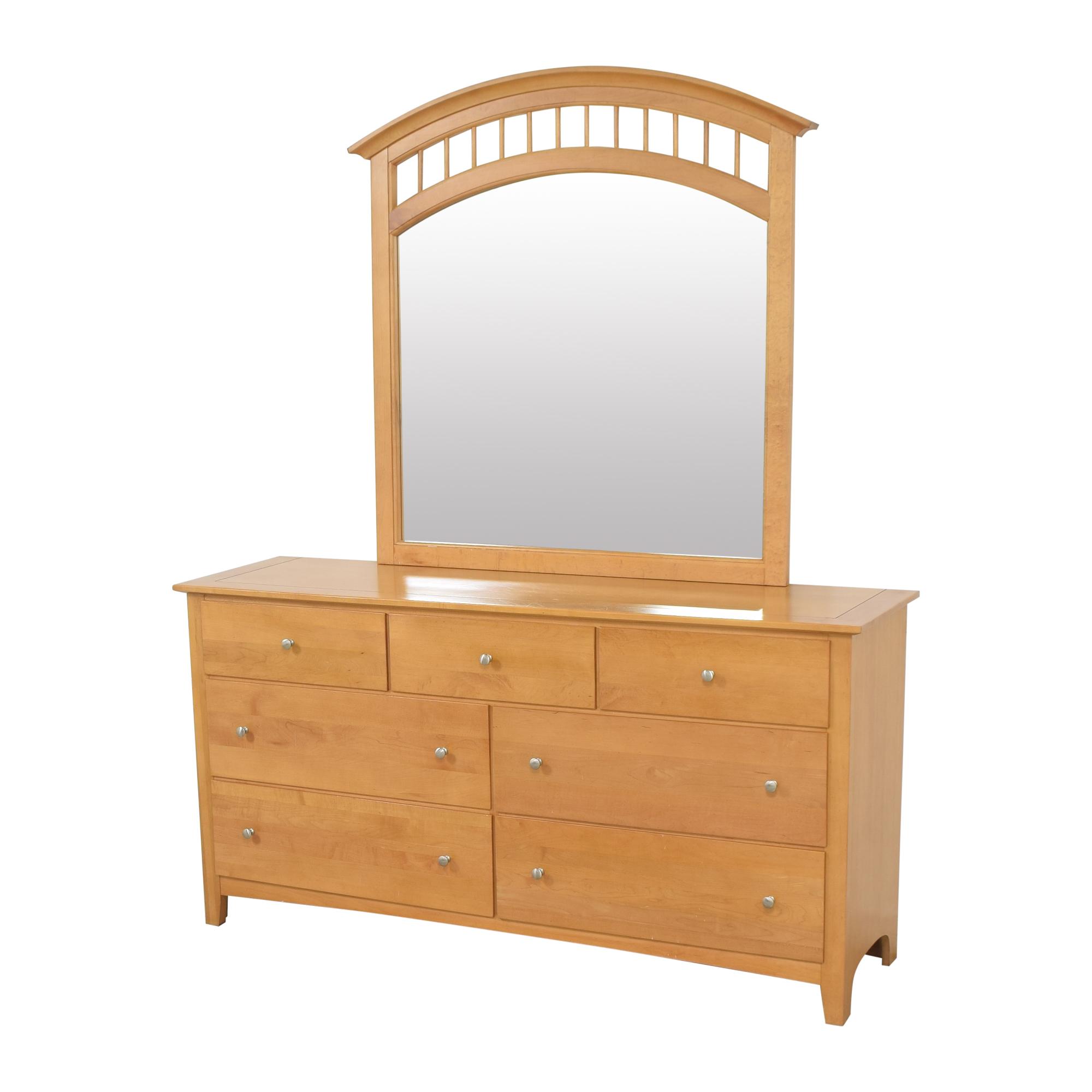 Stanley Furniture Stanley Furniture Seven Drawer Dresser with Mirror for sale