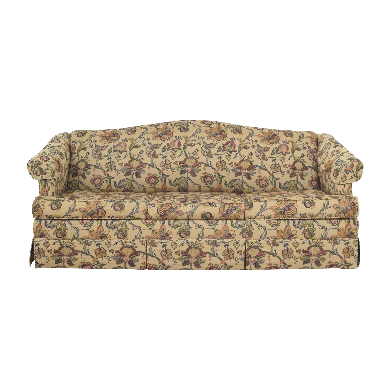 Floral Three Cushion Sleeper Sofa