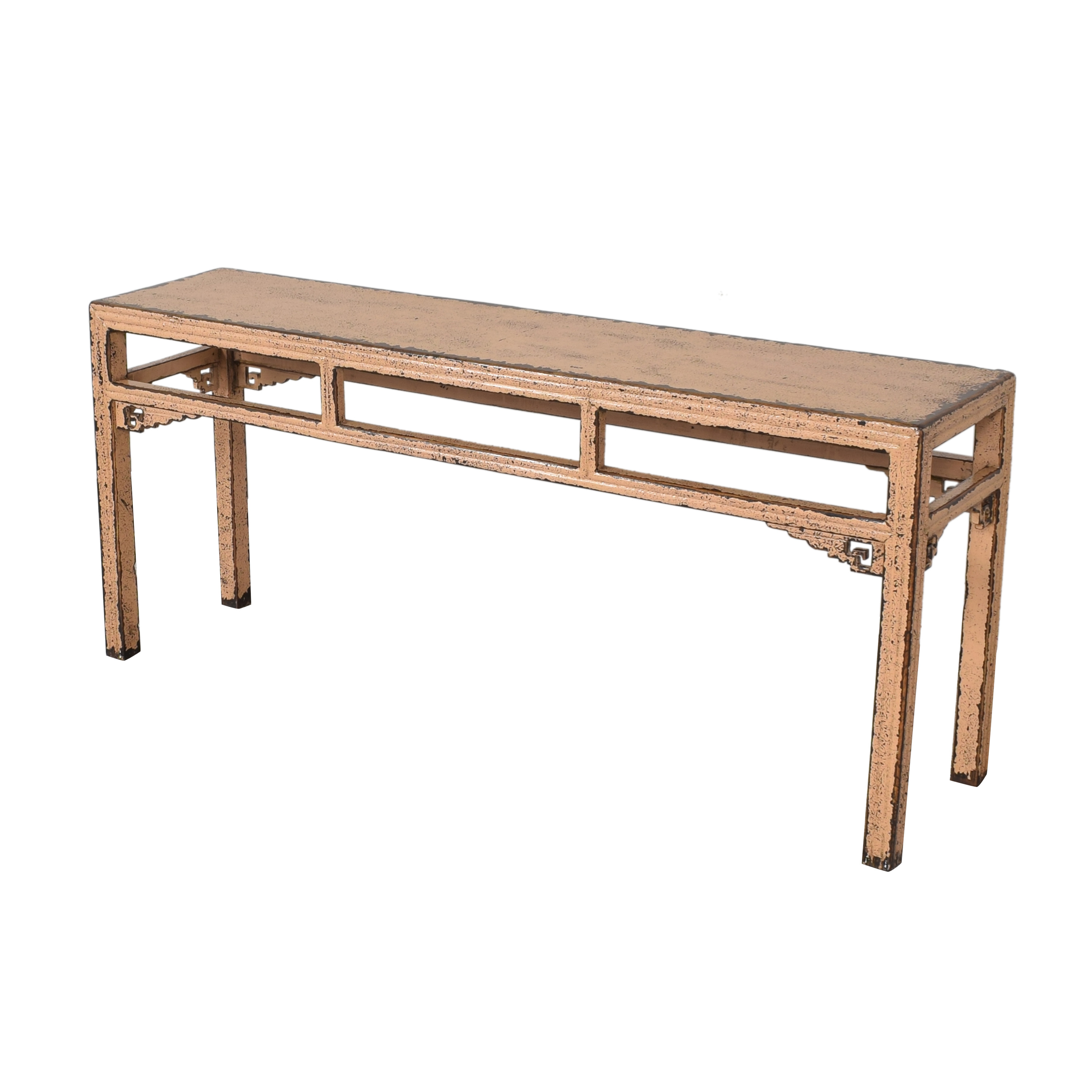 shop HD Buttercup Distressed Console Table HD Buttercup Accent Tables