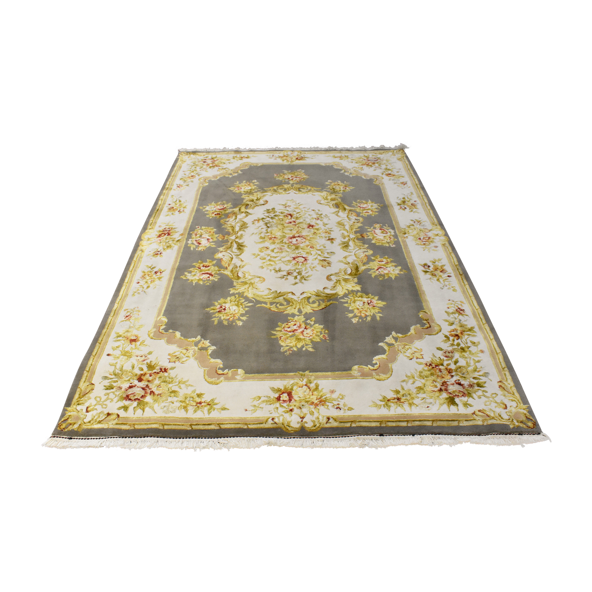 Floral Patterned Area Rug ma