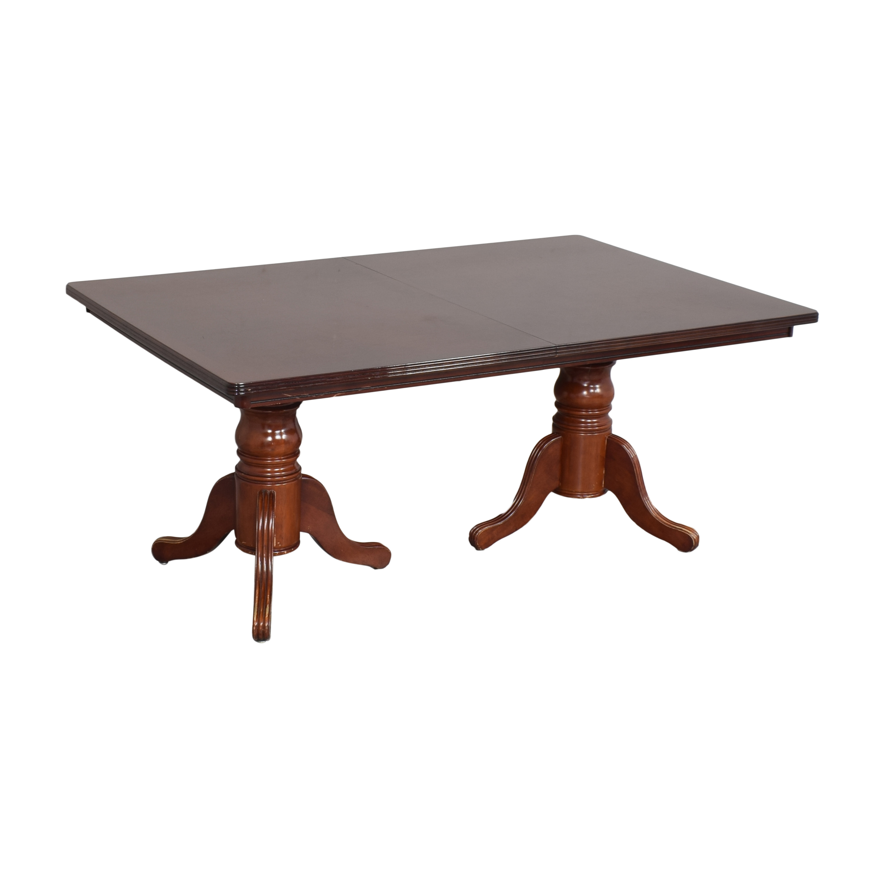 Double Pedestal Extendable Dining Table discount