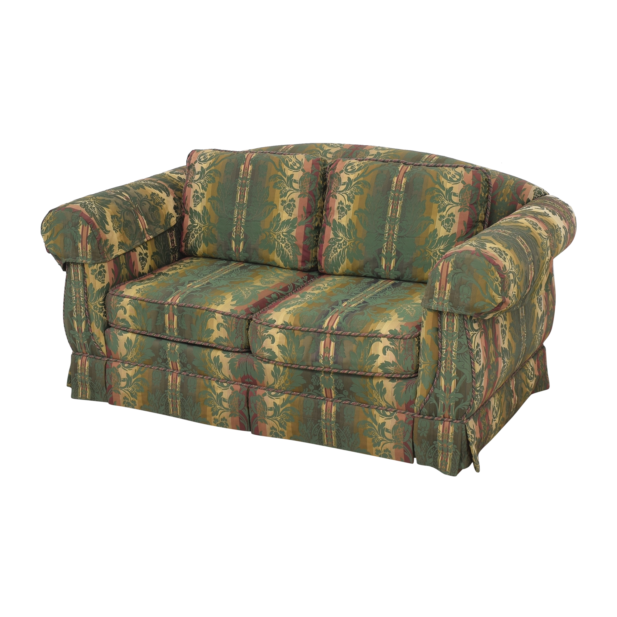 Thomasville Thomasville Patterned Two Cushion Sofa discount