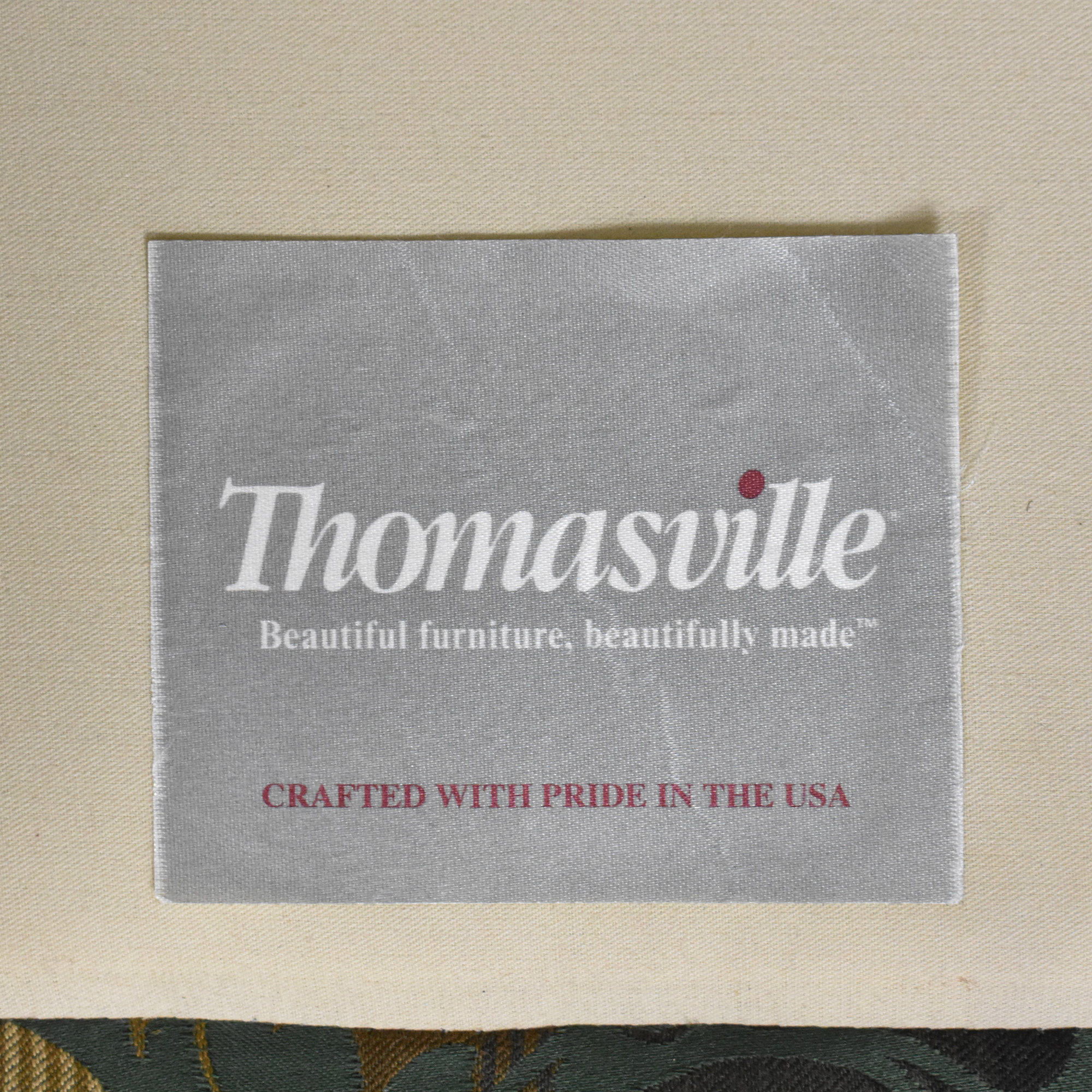 Thomasville Thomasville Patterned Two Cushion Sofa second hand