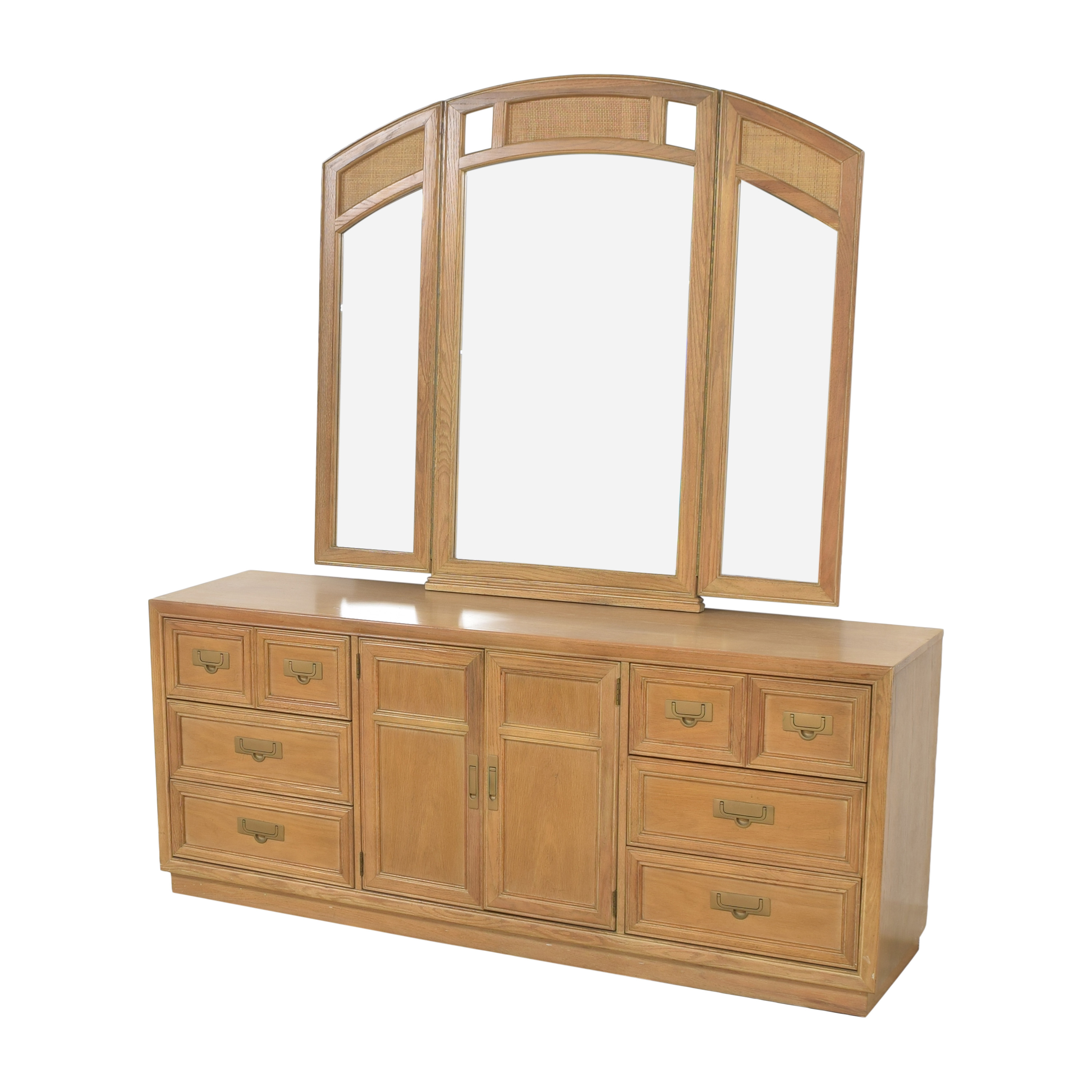 Stanley Furniture Stanley Furniture Nine Drawer Dresser with Mirror for sale