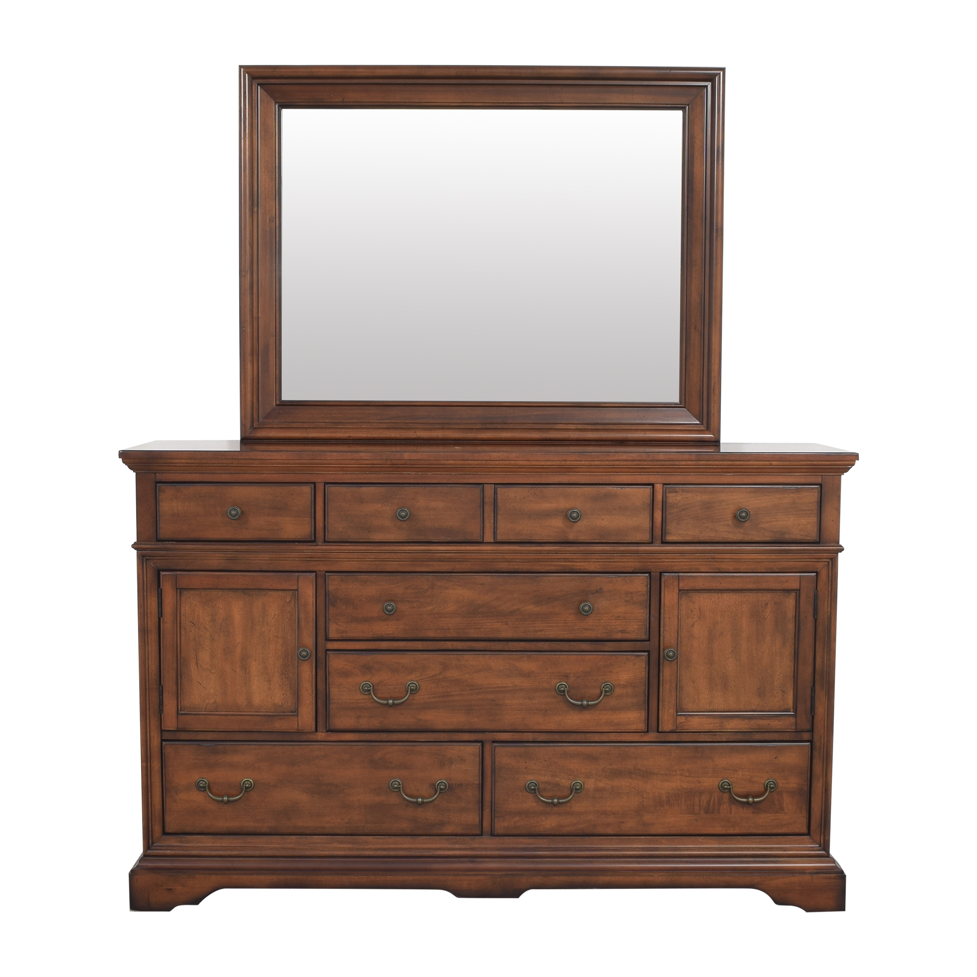 Cresent Furniture Cottage Media Dresser with Mirror Cresent Furniture