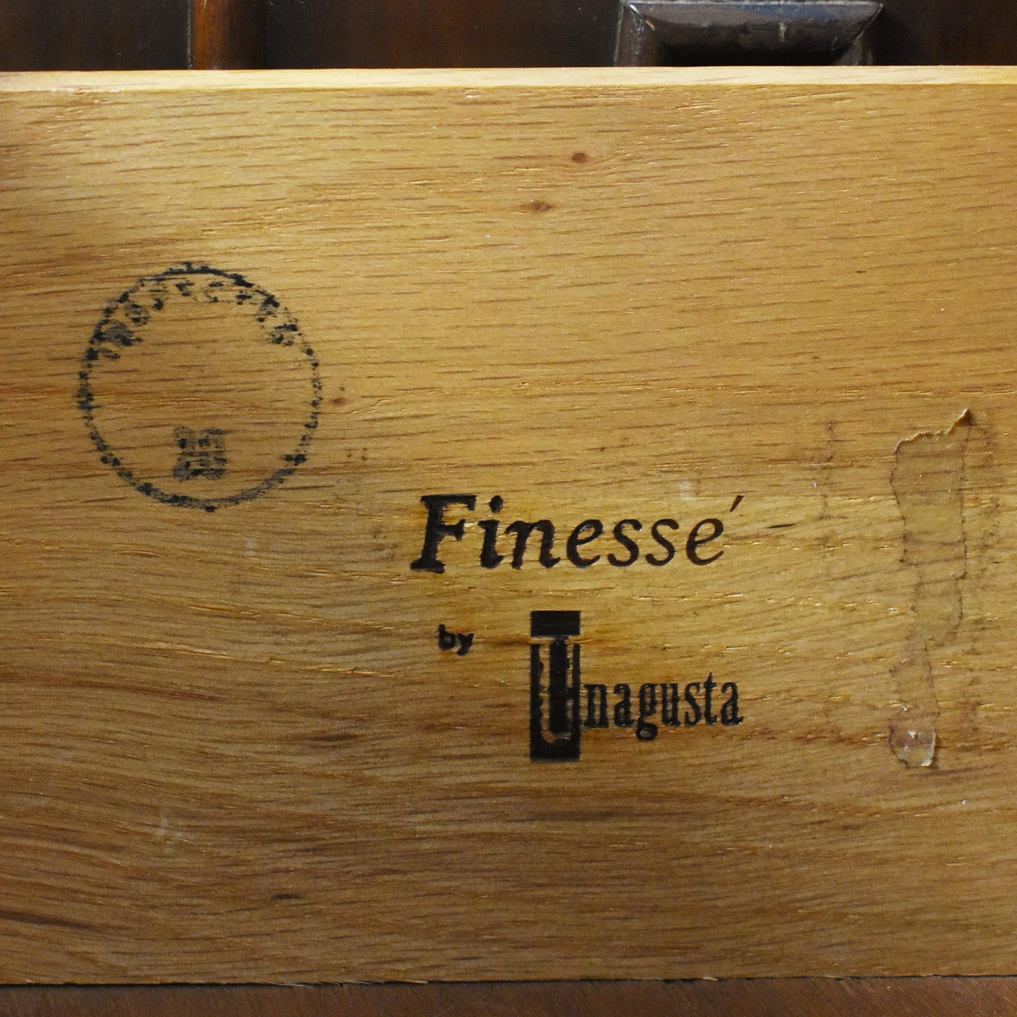 Unagusta Finesse Mid Century Modern Triple Dresser / Storage
