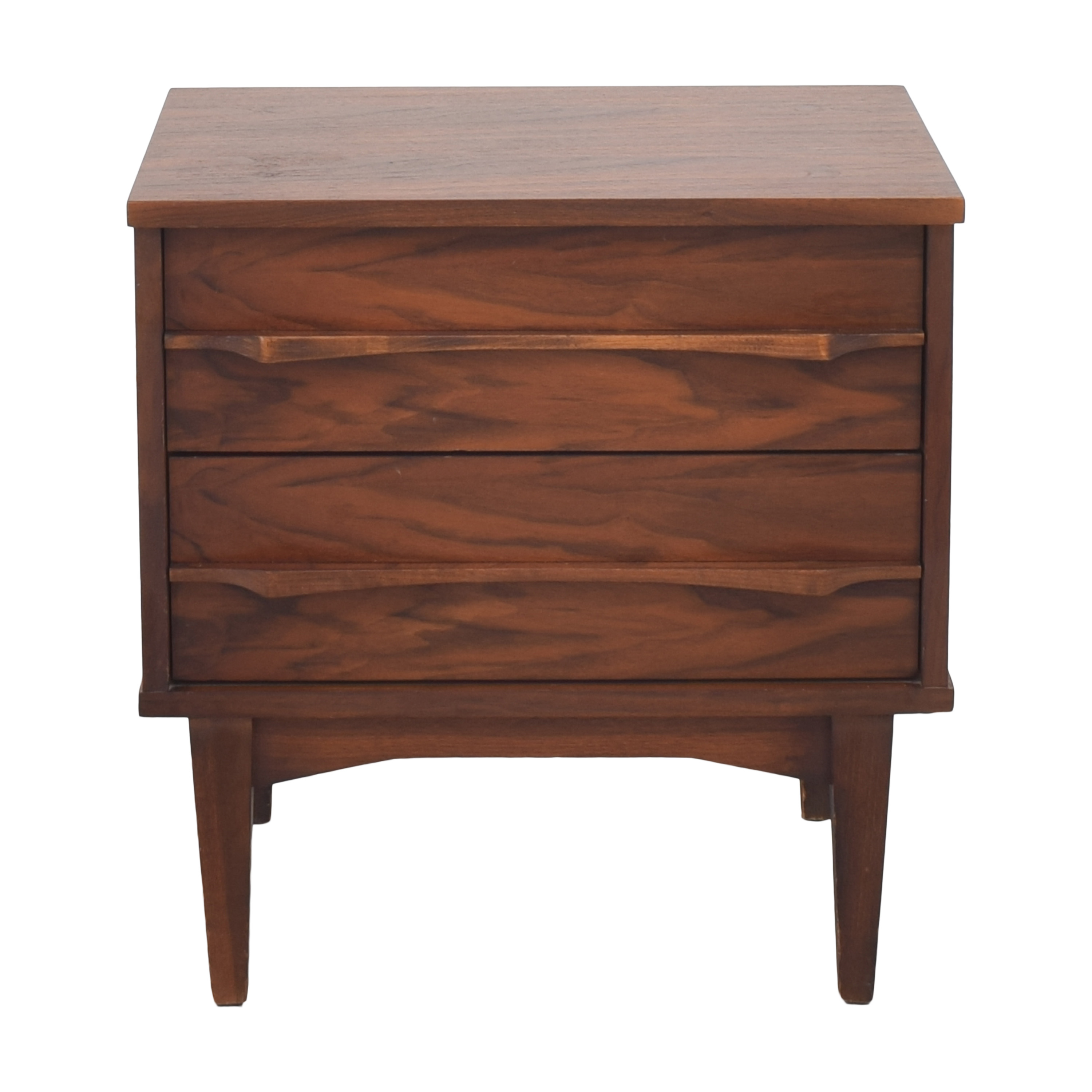 Mid Century Modern Two Drawer Nightstand