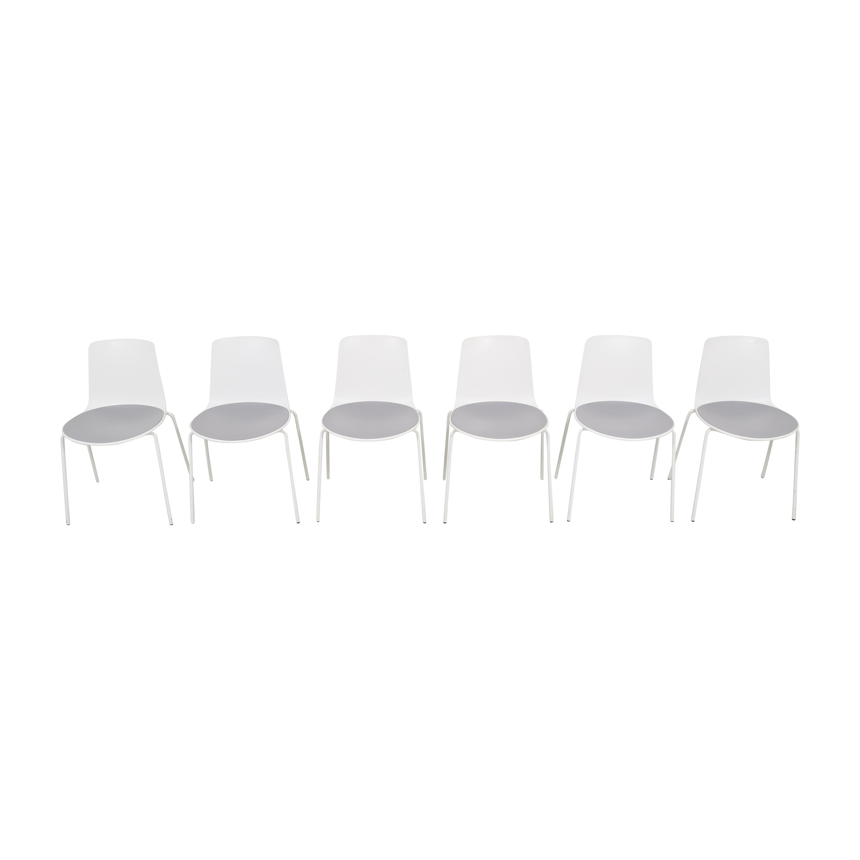 Coalesse Coalesse Enea Lottus Side Chairs white & grey