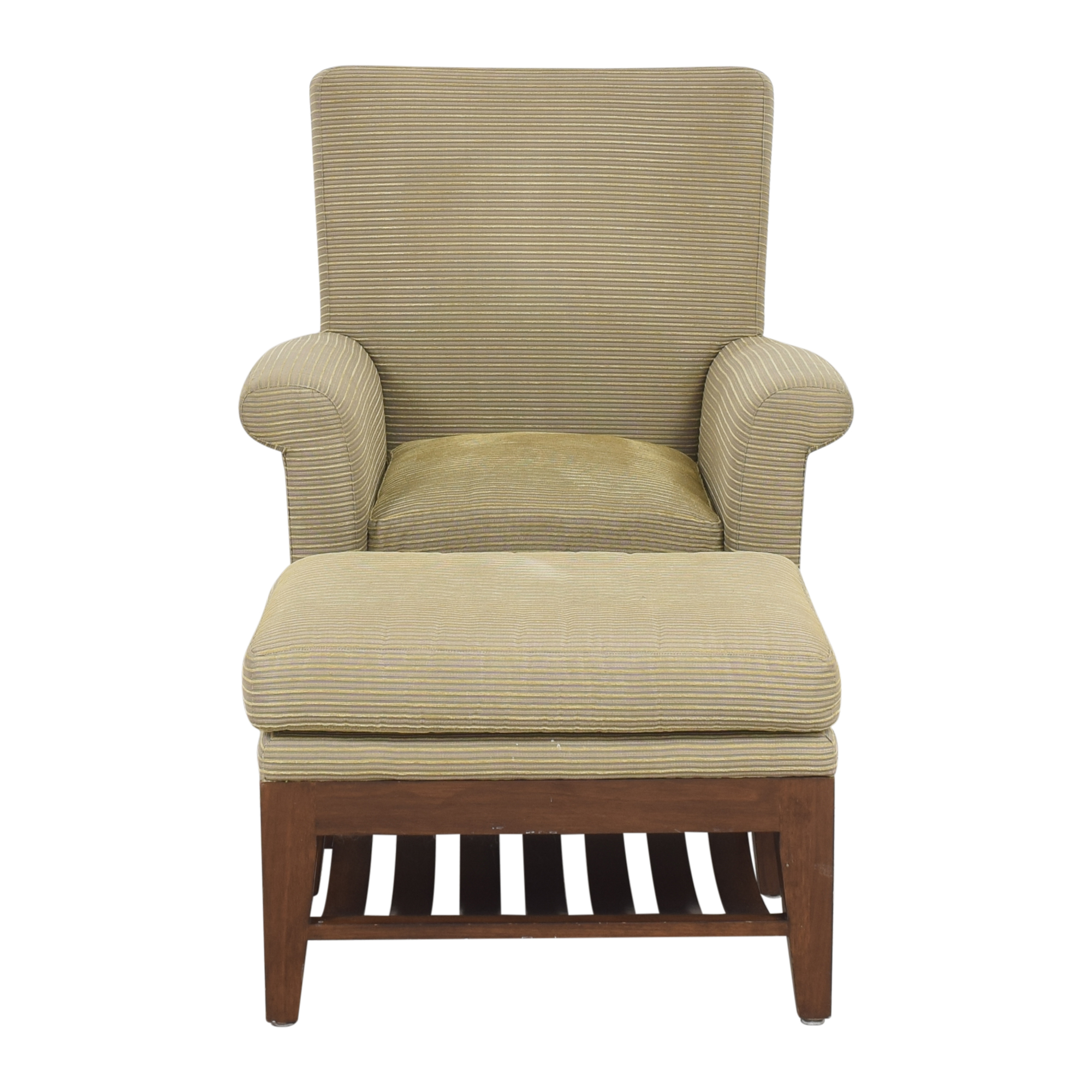 buy Ted Boerner Intermezzo Lounge Arm Chair with Ottoman Ted Boerner Chairs