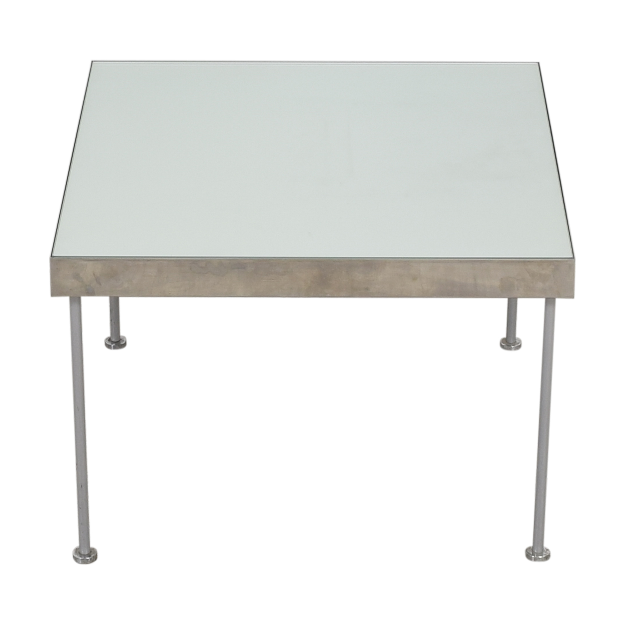 Square Top Coffee Table silver