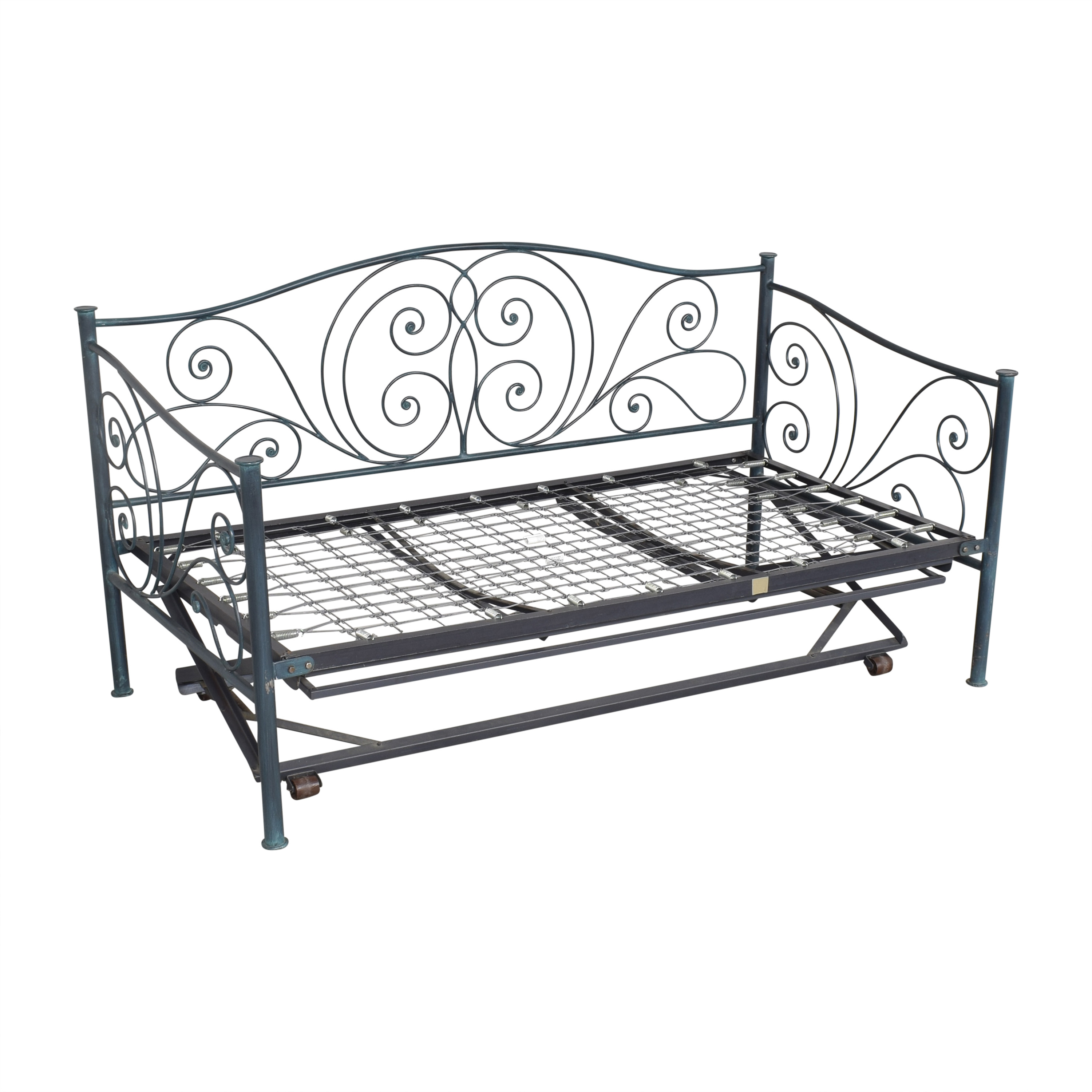 Charles P. Rogers Charles P. Rogers Openwork Twin Daybed with Trundle dimensions