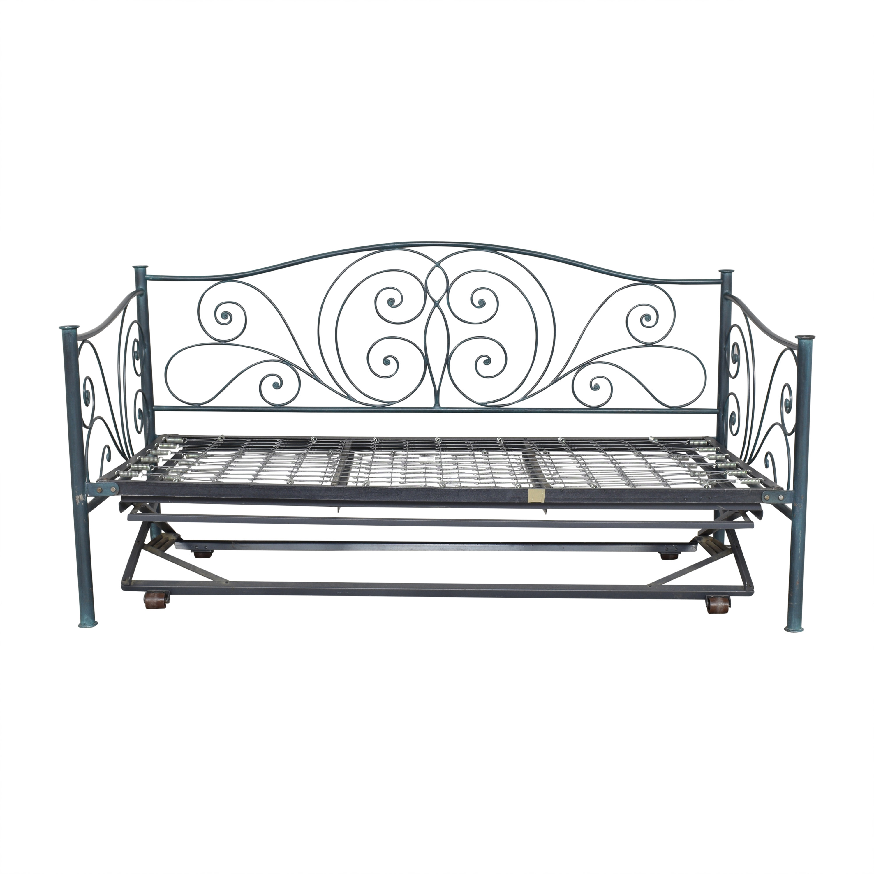 shop Charles P. Rogers Openwork Twin Daybed with Trundle Charles P. Rogers Bed Frames