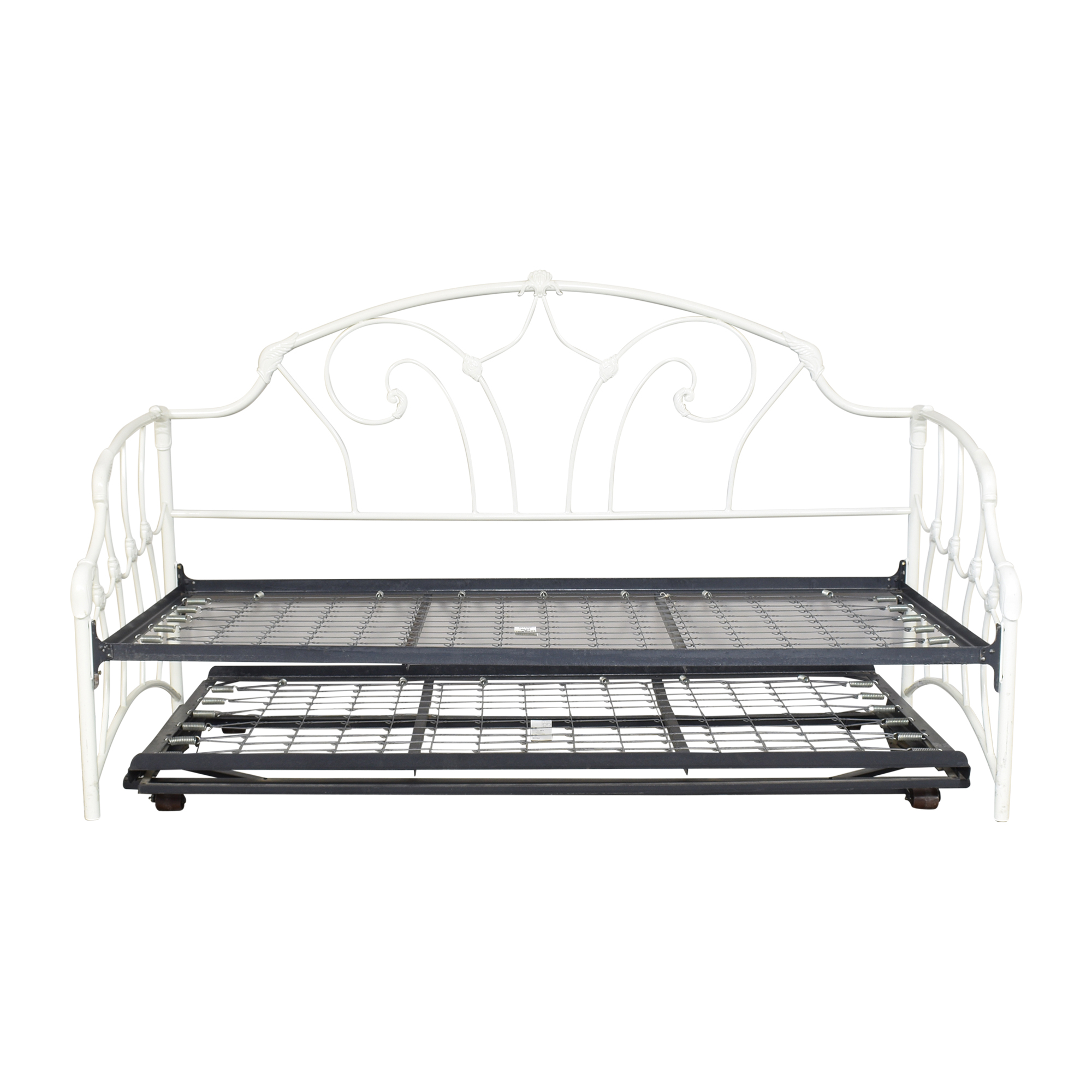 Charles P. Rogers Openwork Twin Daybed with Trundle / Beds
