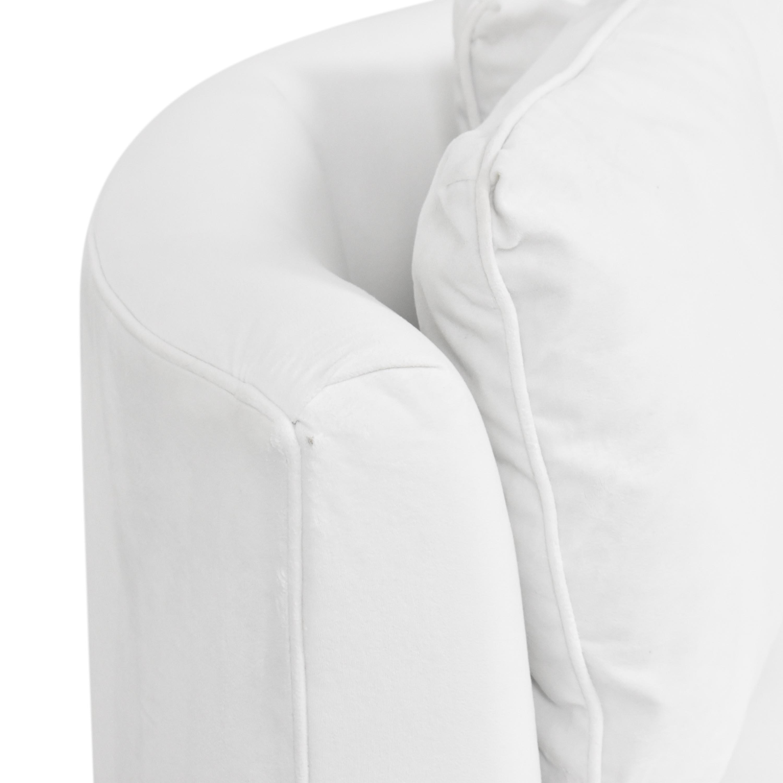 Room & Board Room & Board Eos Swivel Chair white