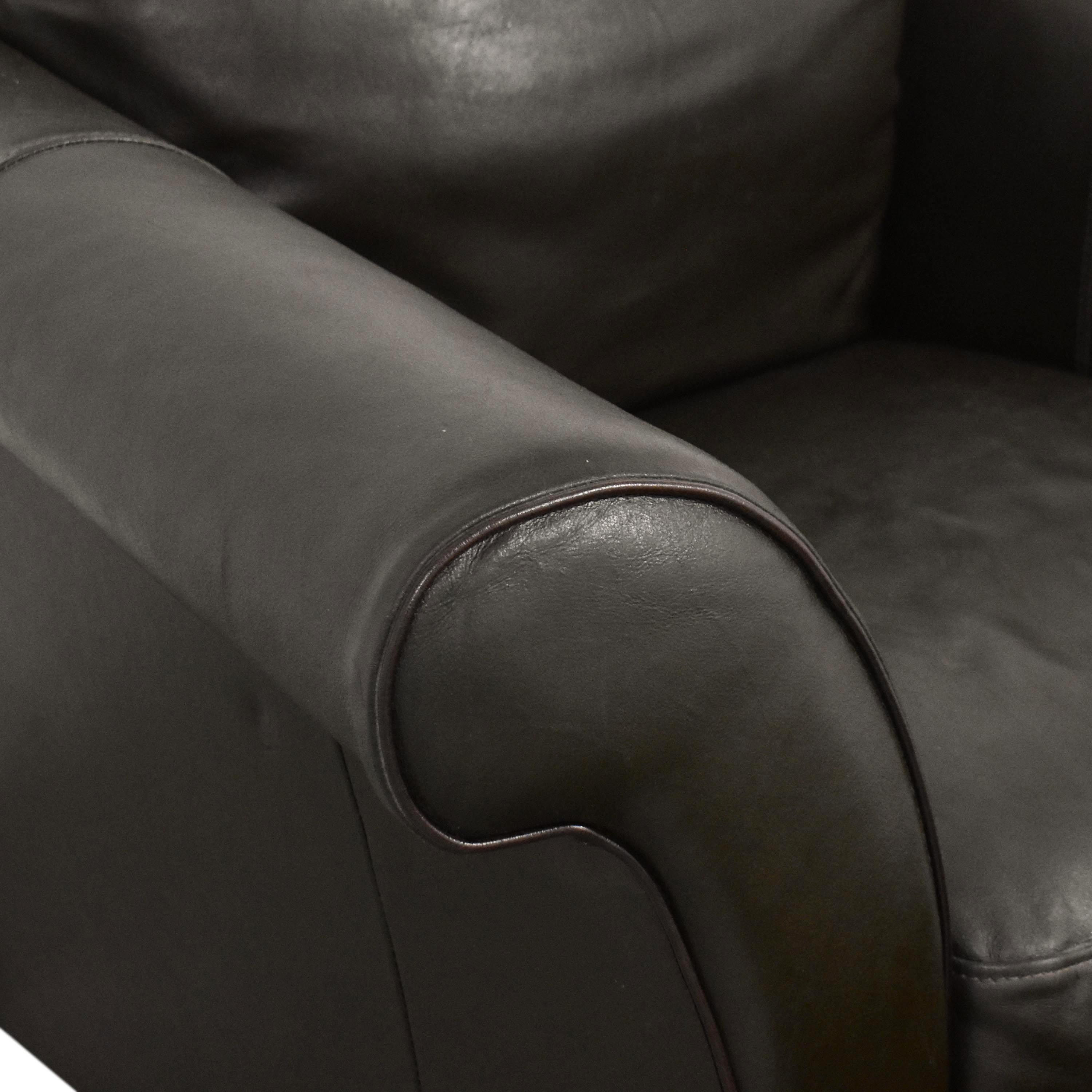 Macy's Macy's Lounge Chair with Ottoman Accent Chairs
