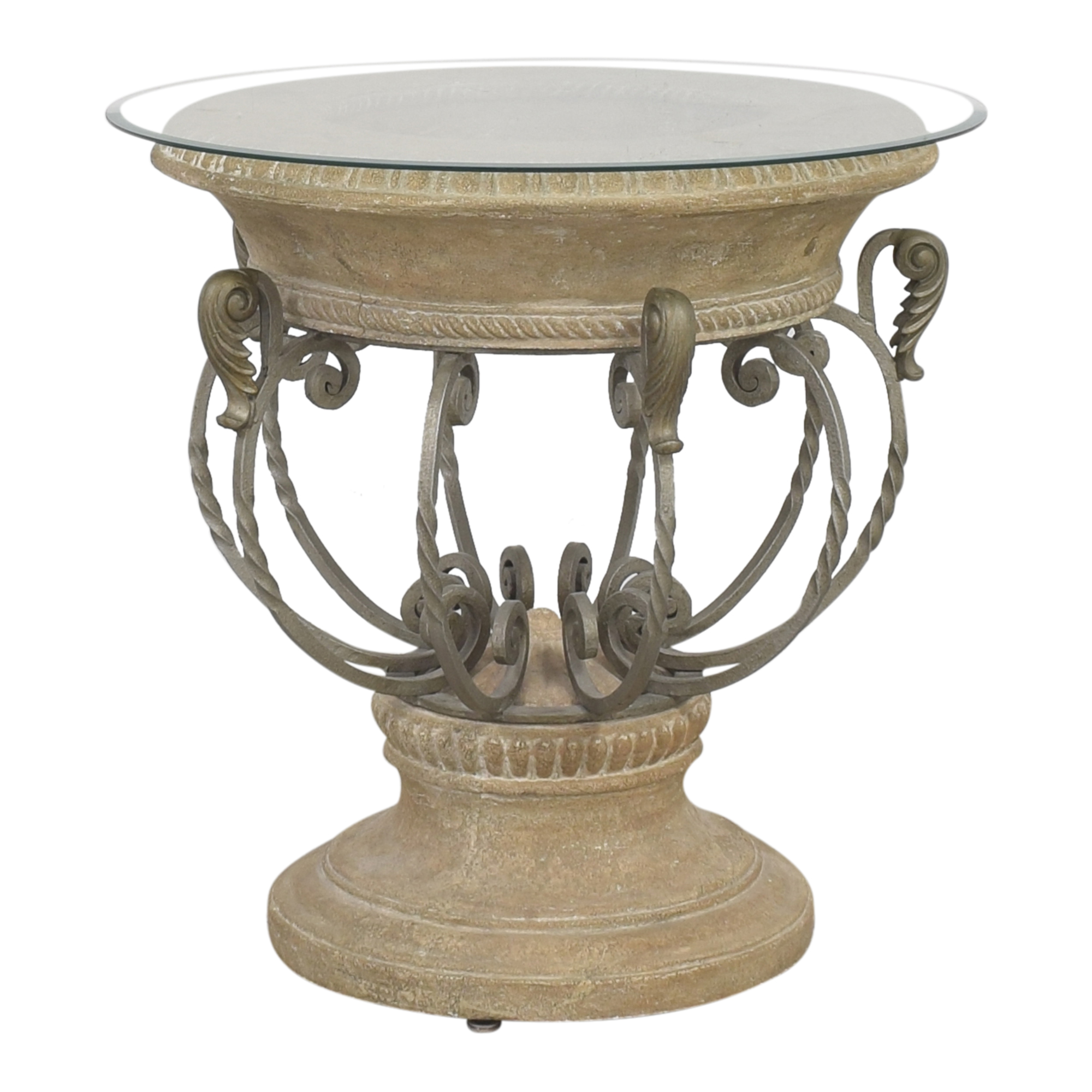 Drexel Heritage Drexel Heritage Accent Table with Transparent Surface for sale