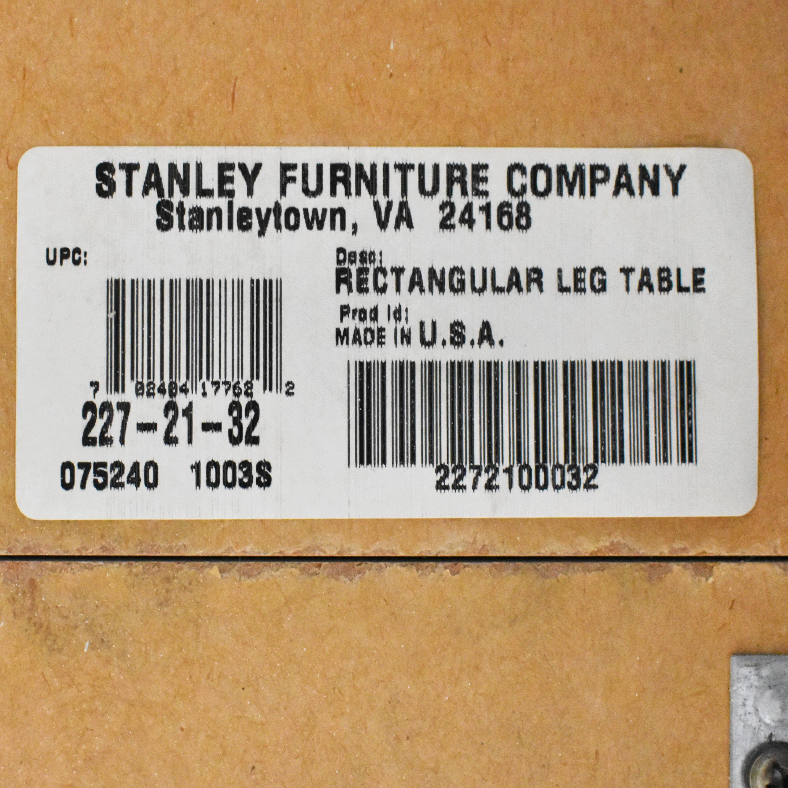 Stanley Furniture Stanley Furniture Rectangular Distressed Dining Table on sale
