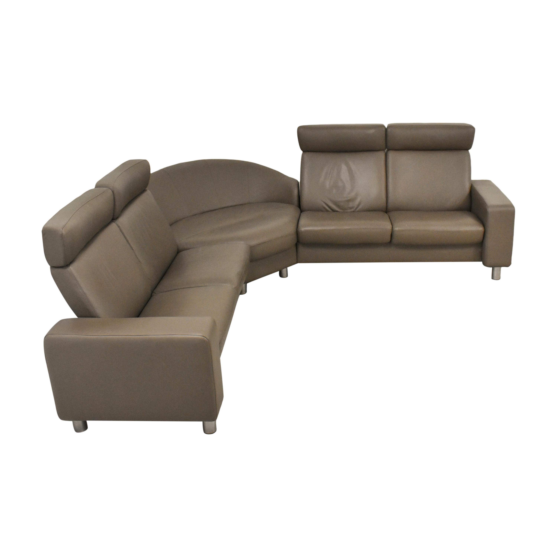 Ekornes Ekornes Stressless Three Piece Reclining Sectional Sofa for sale